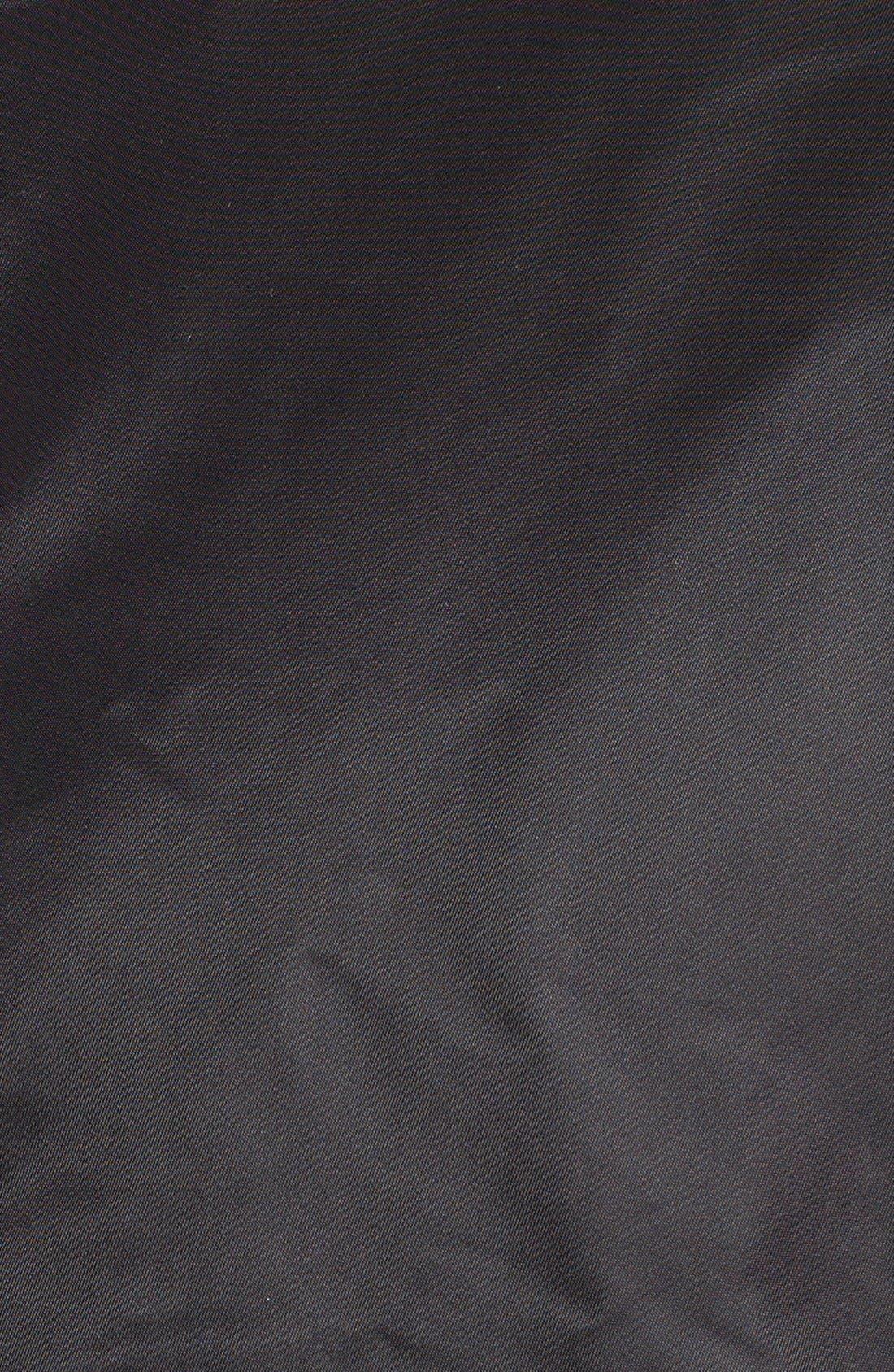 'MA-1' Slim Fit Bomber Jacket,                             Alternate thumbnail 6, color,                             BLACK