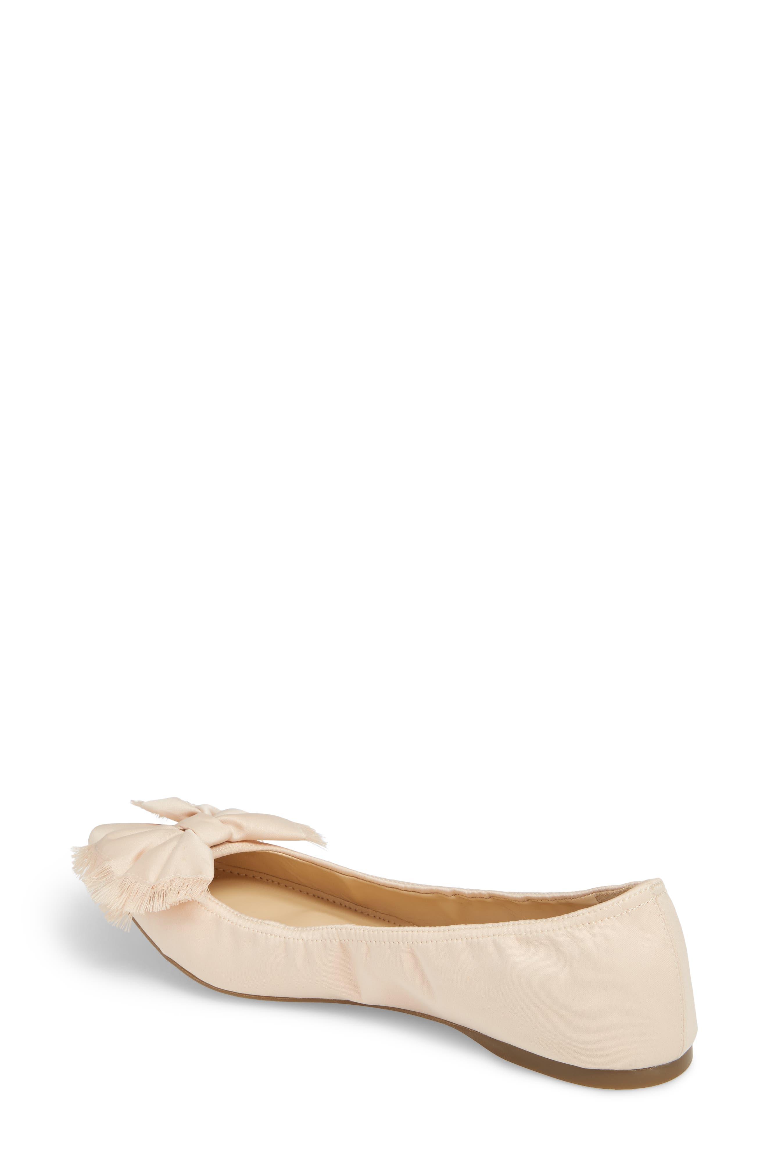 Lottie Frayed Bow Flat,                             Alternate thumbnail 6, color,
