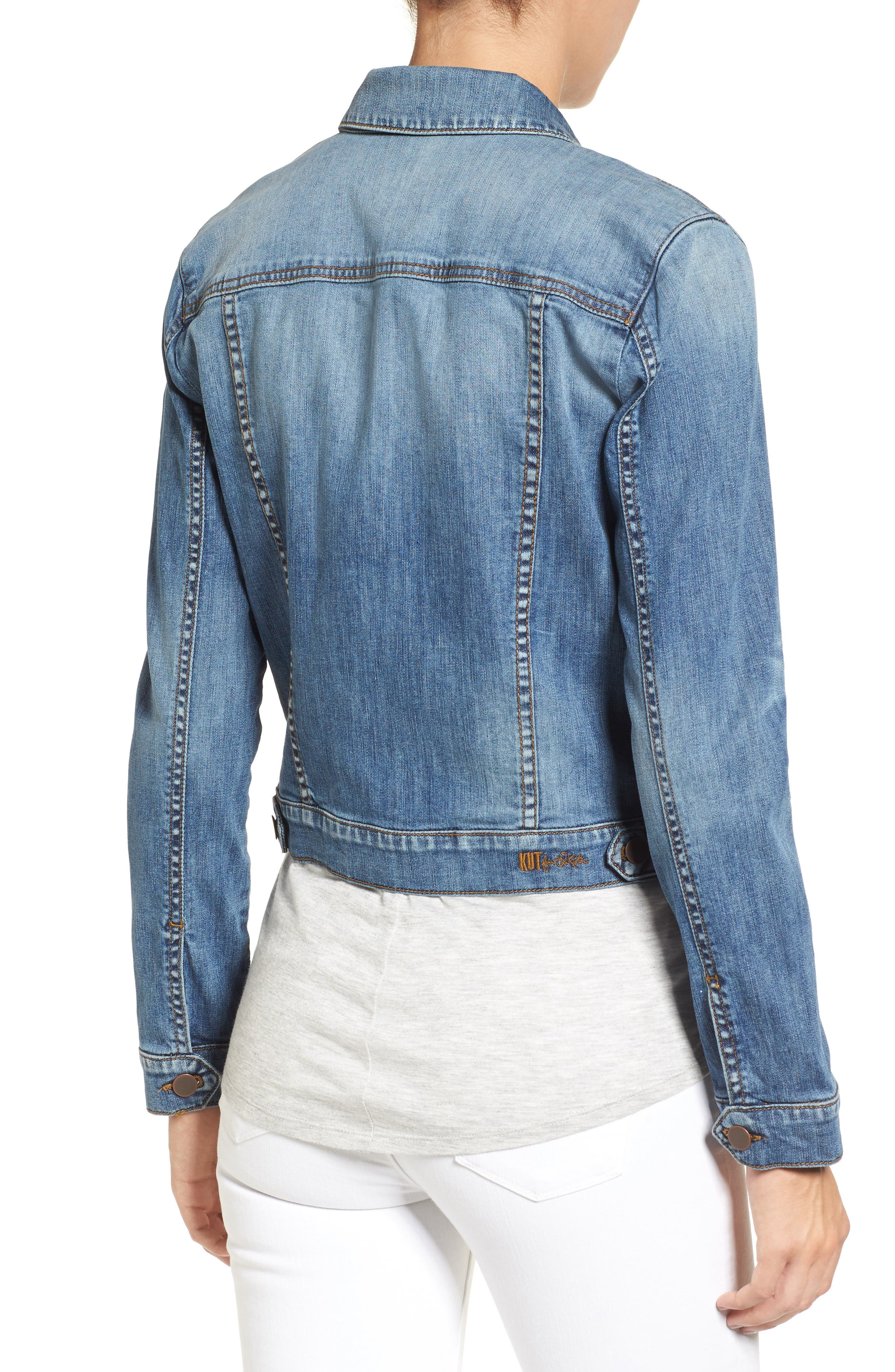 'Helena' Denim Jacket,                             Alternate thumbnail 10, color,