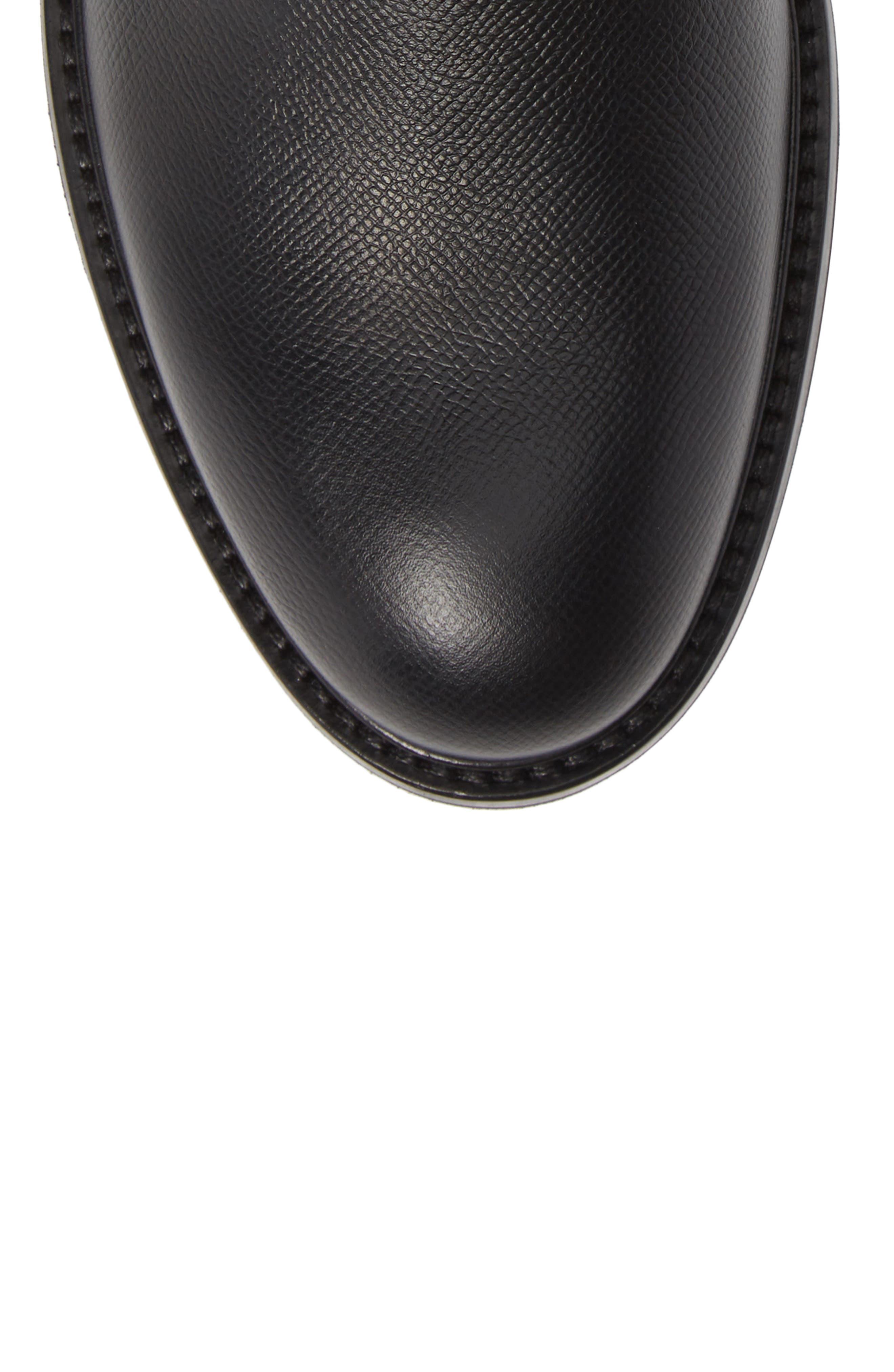 Renzo Weatherproof Plain Toe Waterproof Boot,                             Alternate thumbnail 5, color,                             BLACK