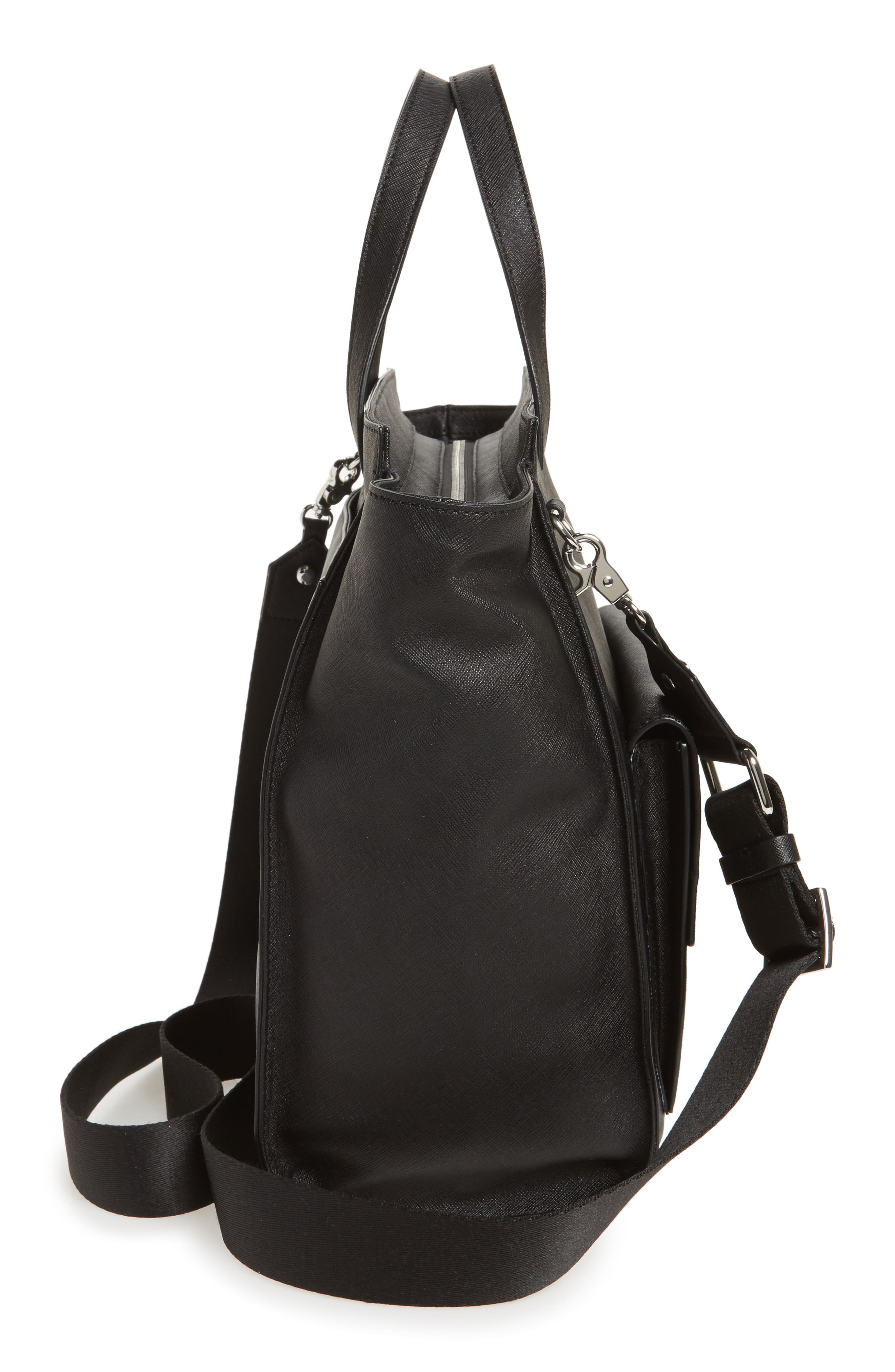 Jagger Leather Tote,                             Alternate thumbnail 6, color,                             001