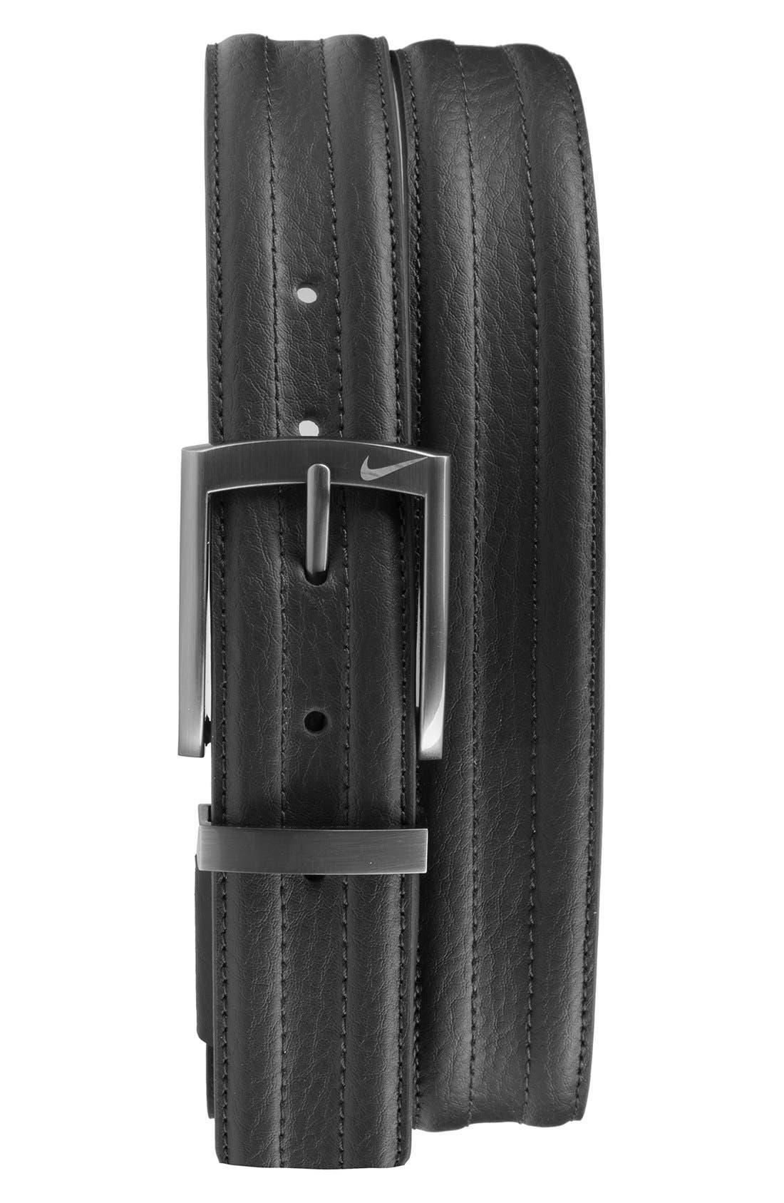 Golf 'G-Flex Tripunto' Leather Belt,                             Main thumbnail 1, color,                             001