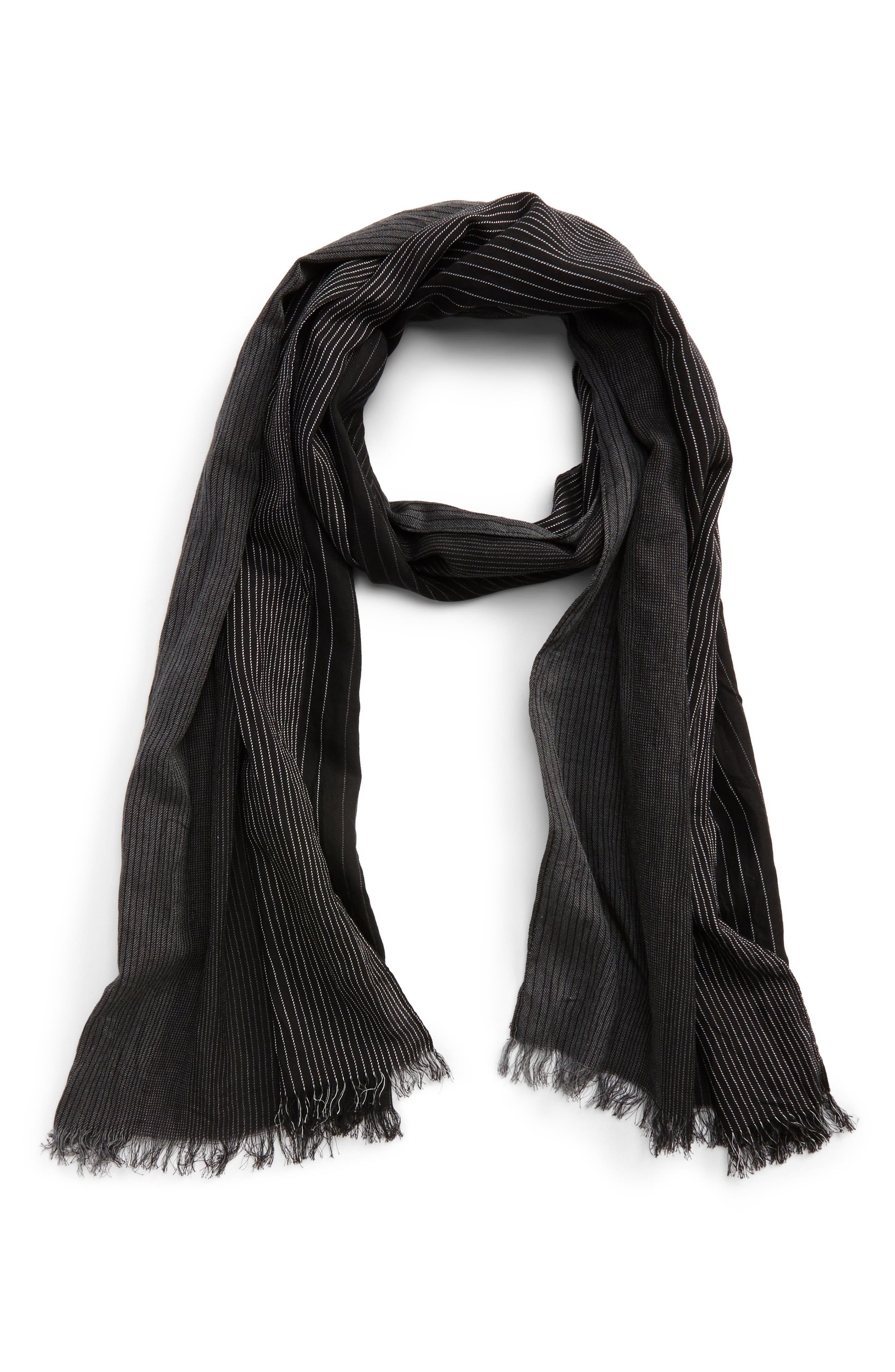 Ombré Cotton & Silk Scarf,                         Main,                         color, 001