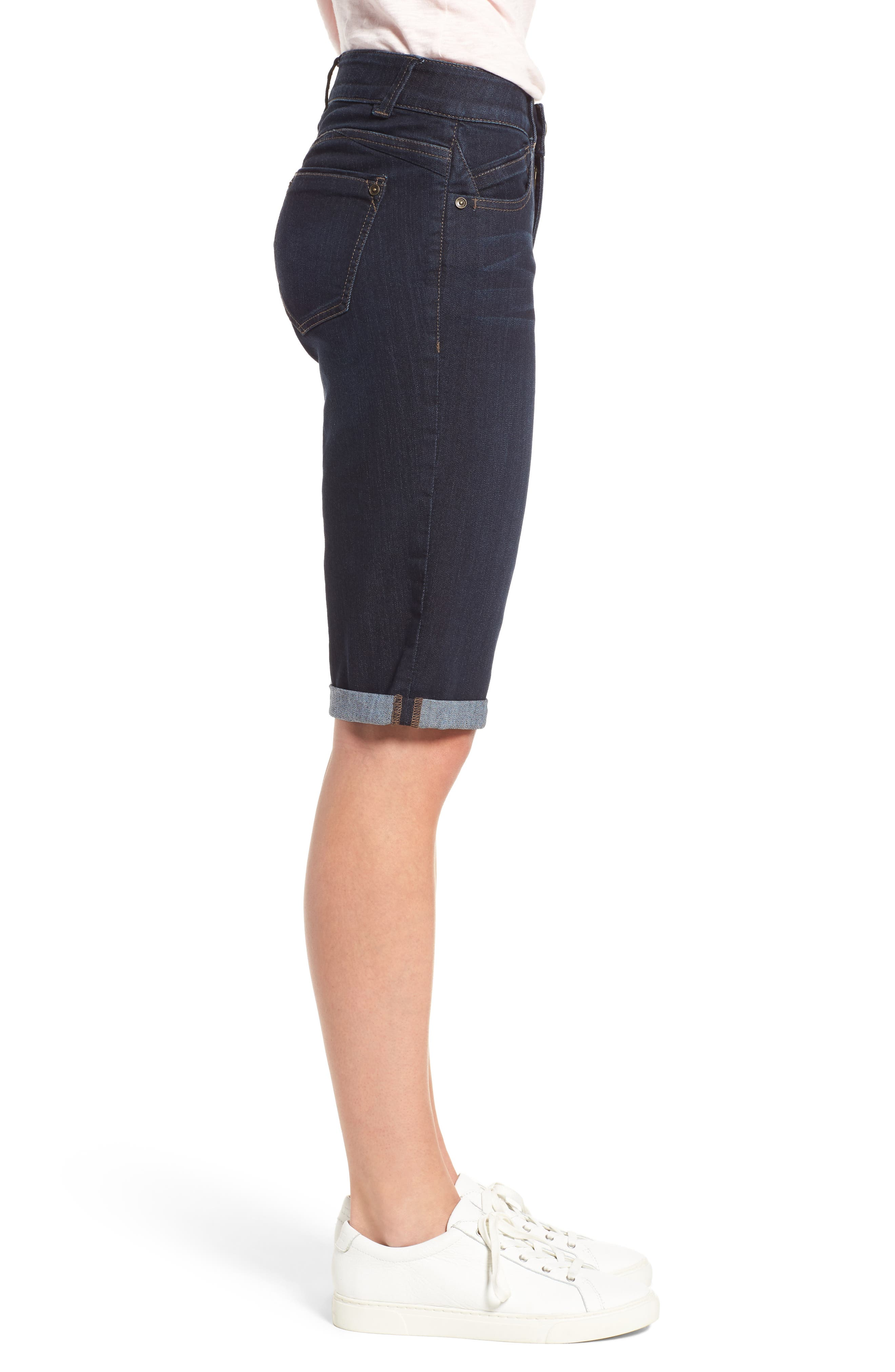 Ab-solution Denim Bermuda Shorts,                             Alternate thumbnail 3, color,
