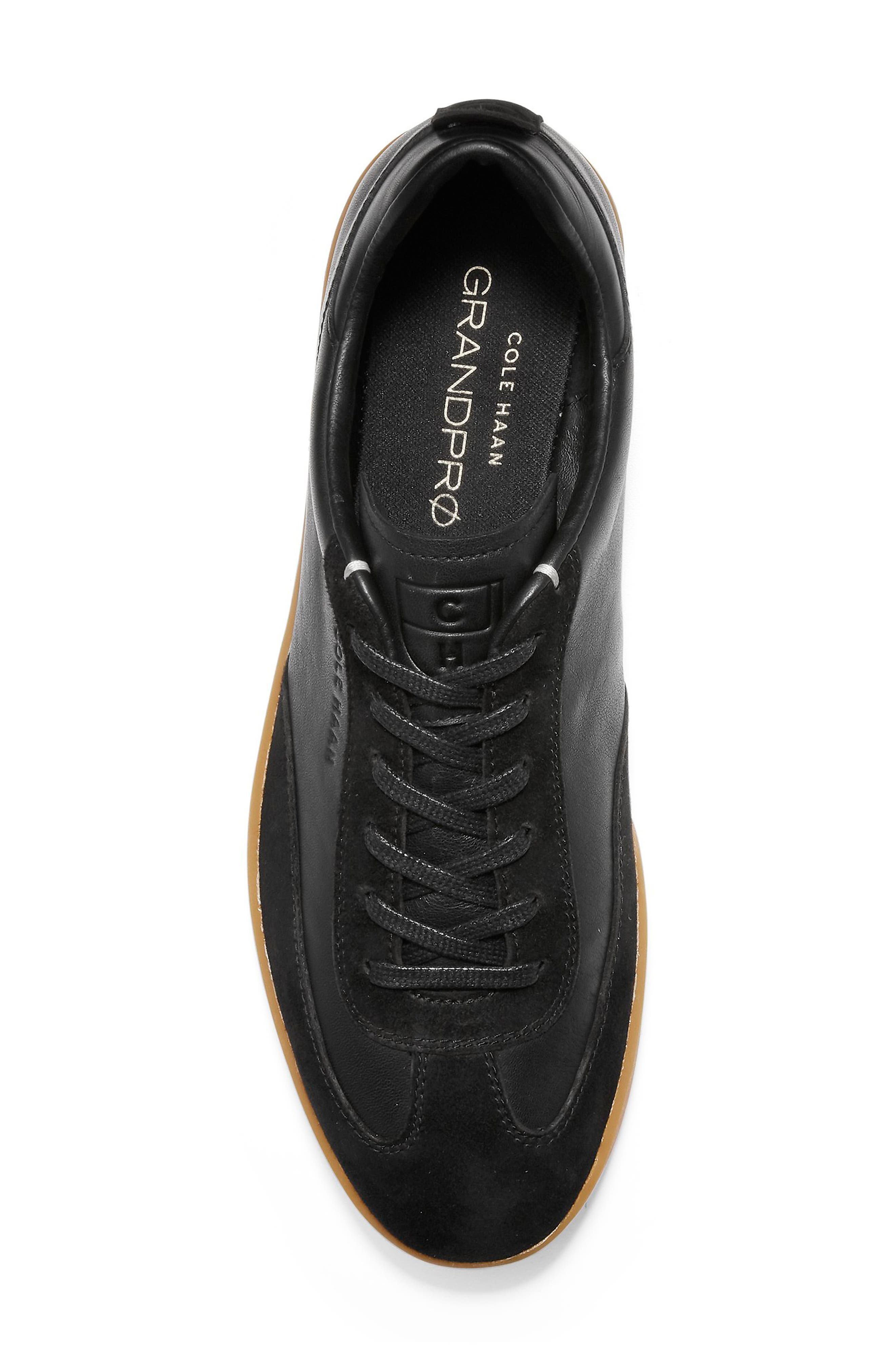 GrandPro Turf Sneaker,                             Alternate thumbnail 5, color,                             BLACK LEATHER/ SUEDE