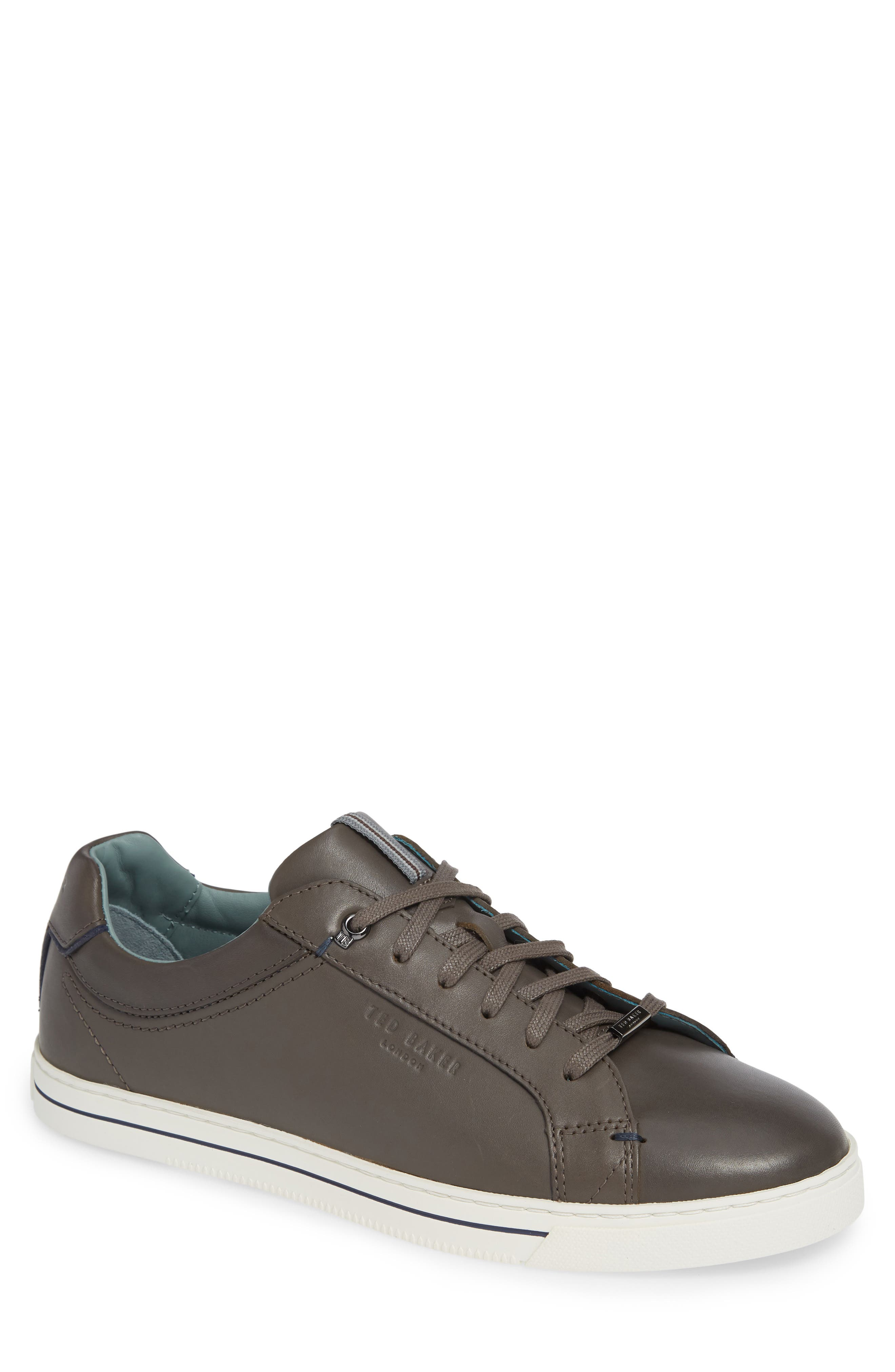 Thawne Sneaker,                         Main,                         color, DARK GREY LEATHER