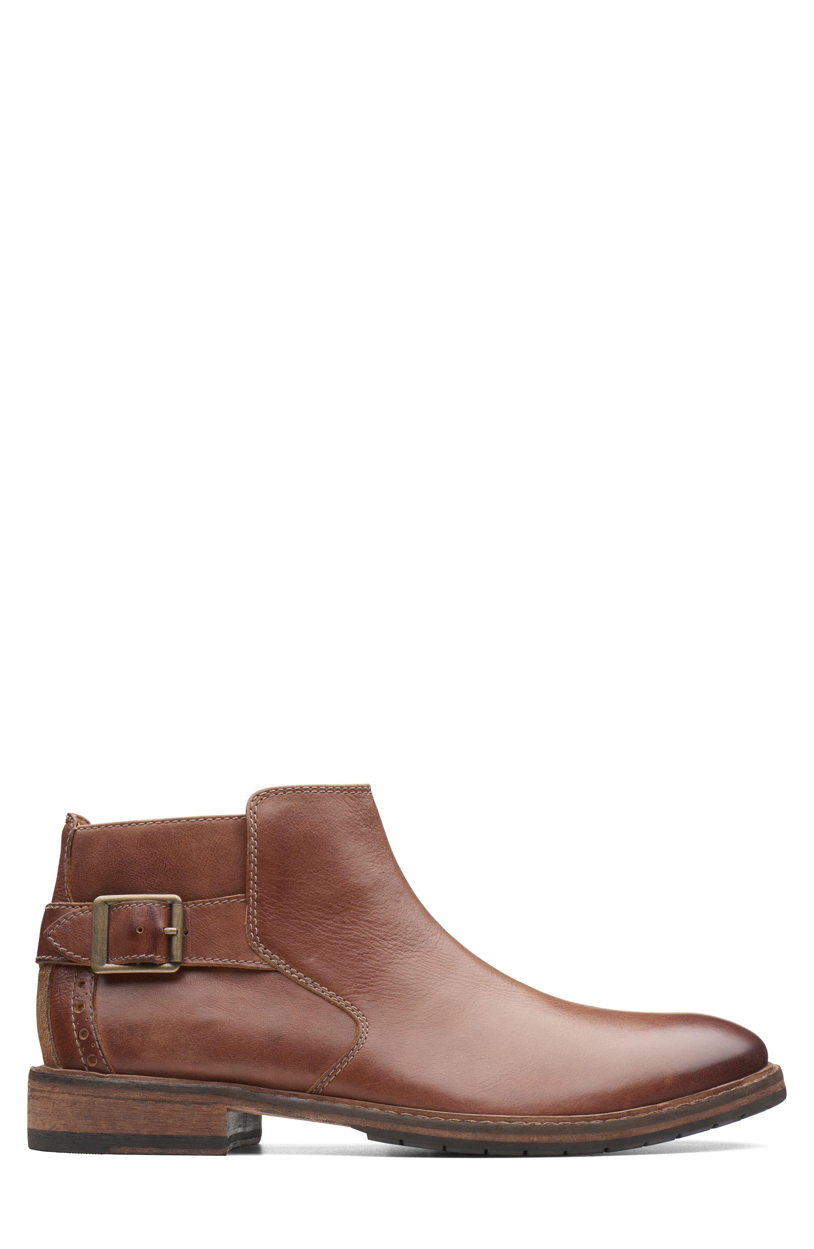 Clarkdale Remi Ankle Boot,                             Alternate thumbnail 2, color,                             DARK TAN LEATHER