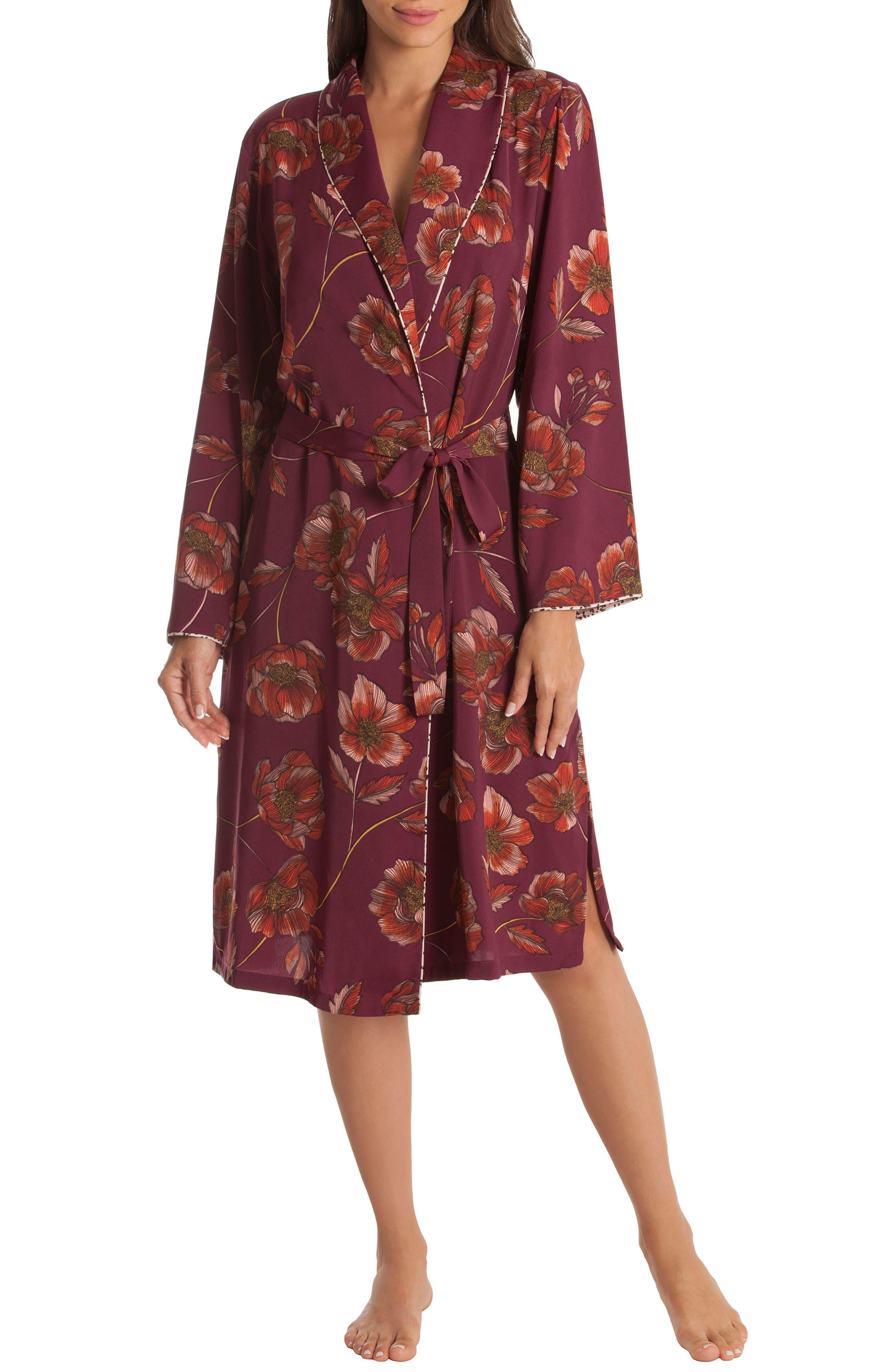 Austin Floral Robe,                         Main,                         color, PLUM