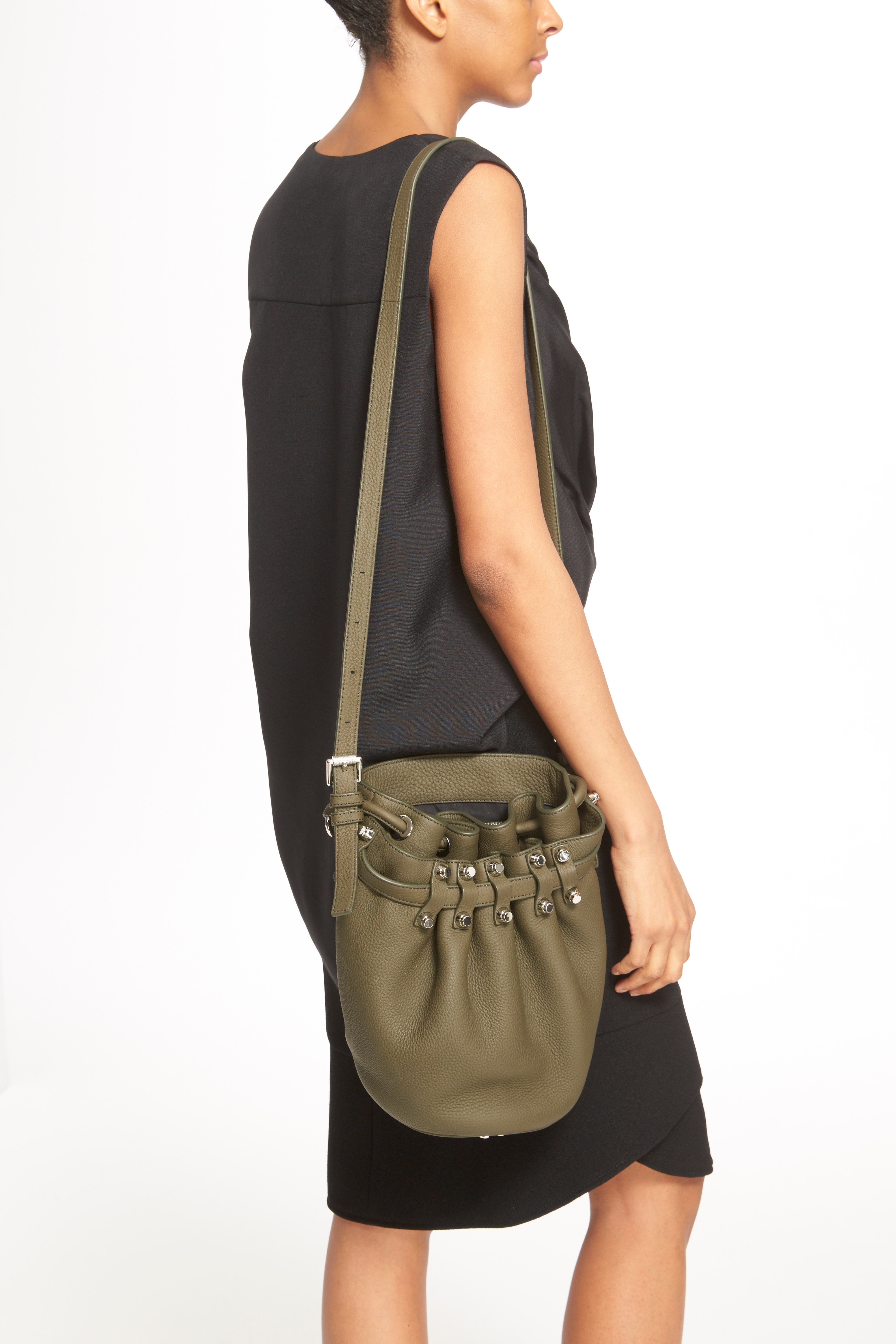 'Small Diego - Nickel' Leather Bucket Bag,                             Alternate thumbnail 2, color,                             342