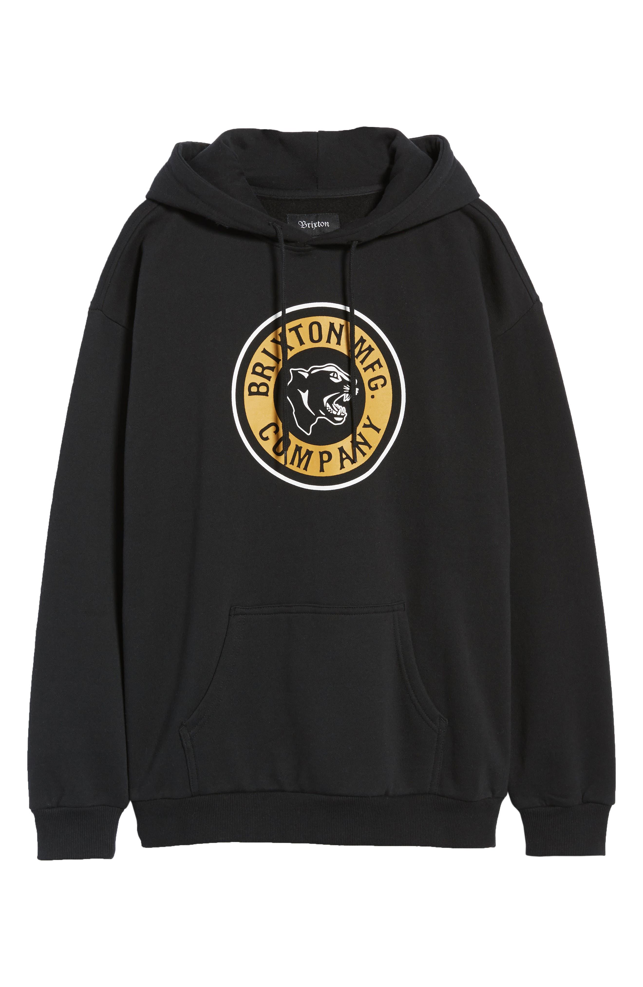 Forte Hooded Sweatshirt,                             Alternate thumbnail 6, color,                             BLACK