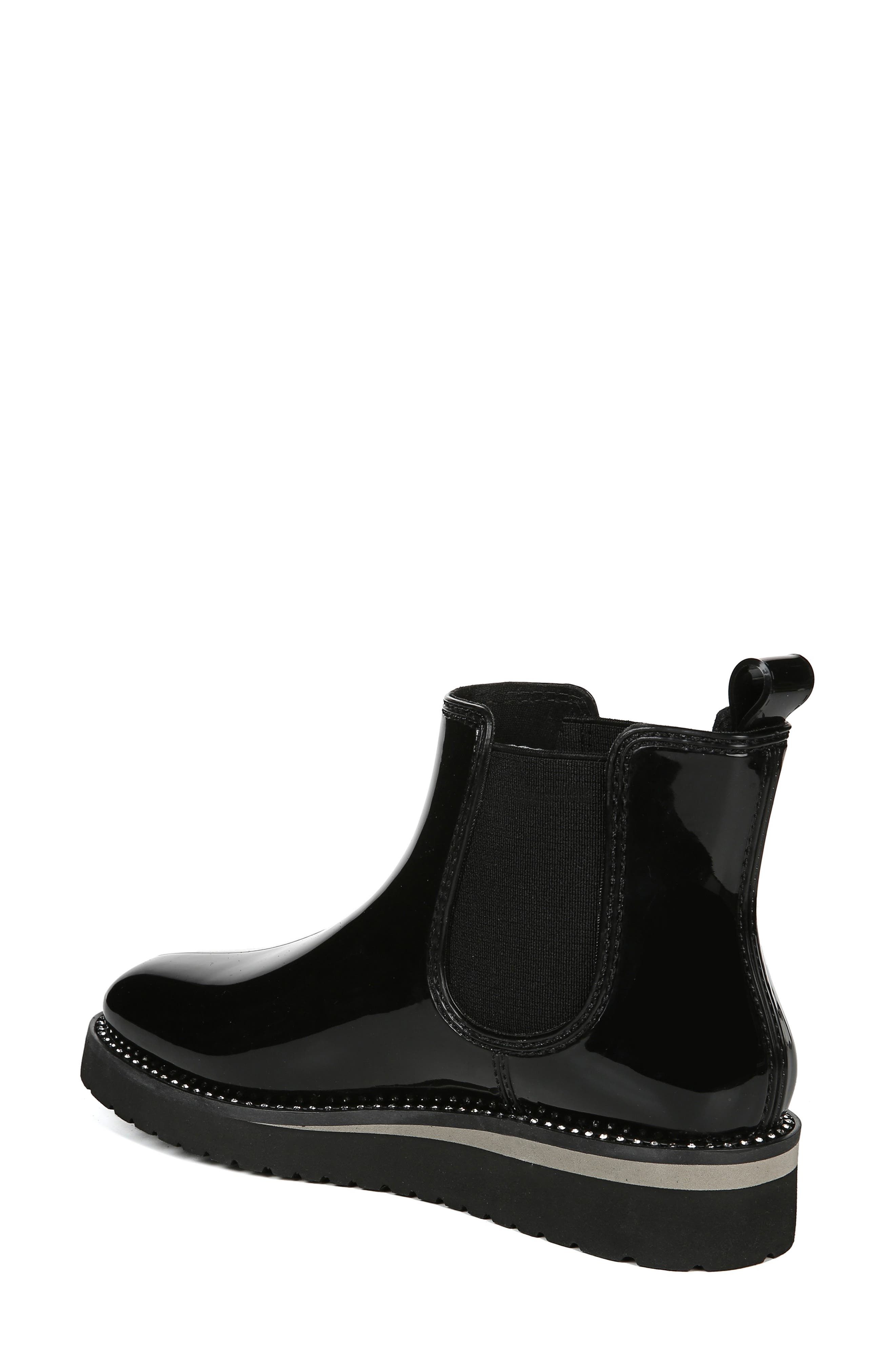 Luna Waterproof Chelsea Boot,                             Alternate thumbnail 2, color,                             BLACK