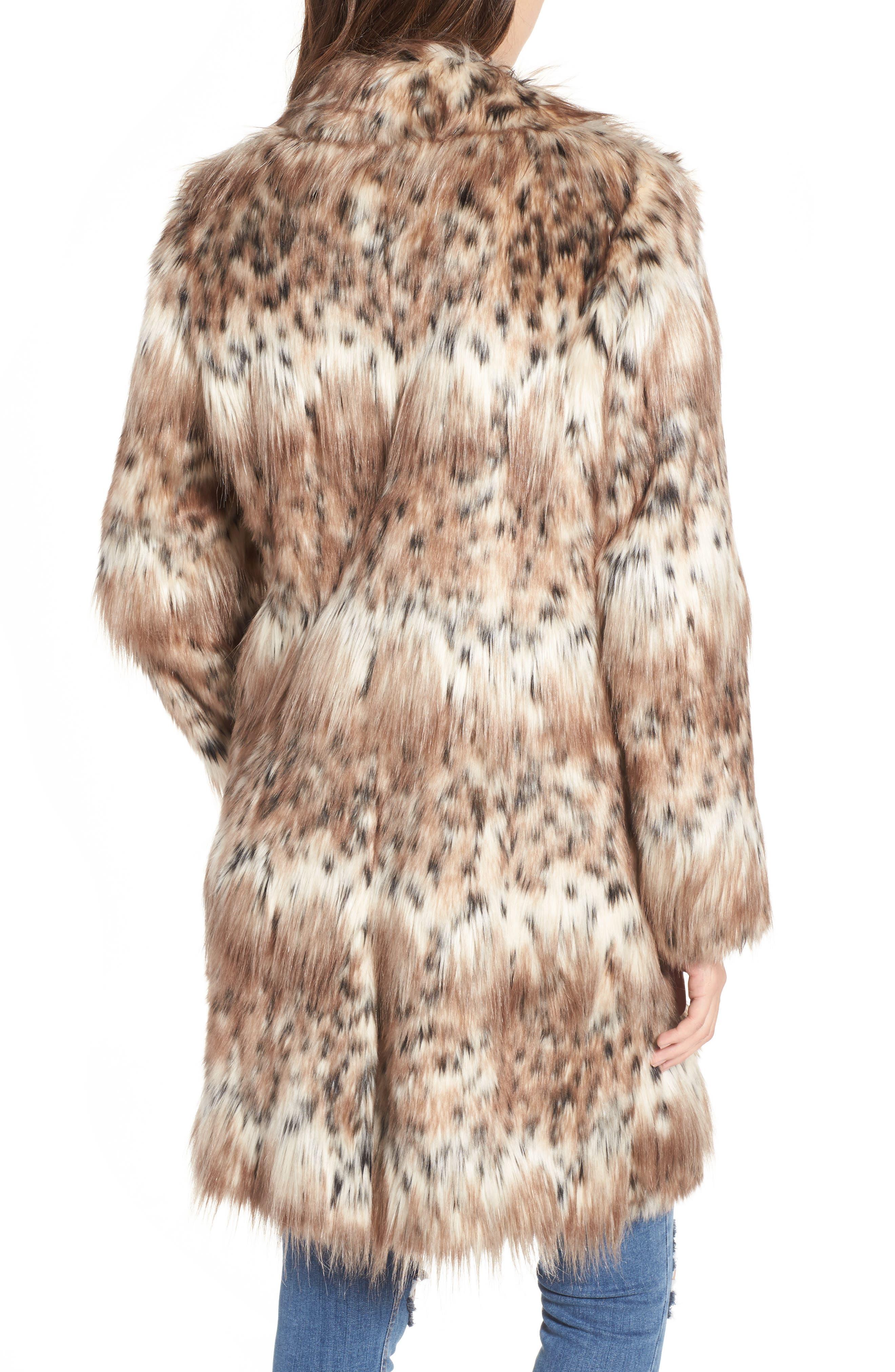 Stella Faux Fur Coat,                             Alternate thumbnail 2, color,                             250