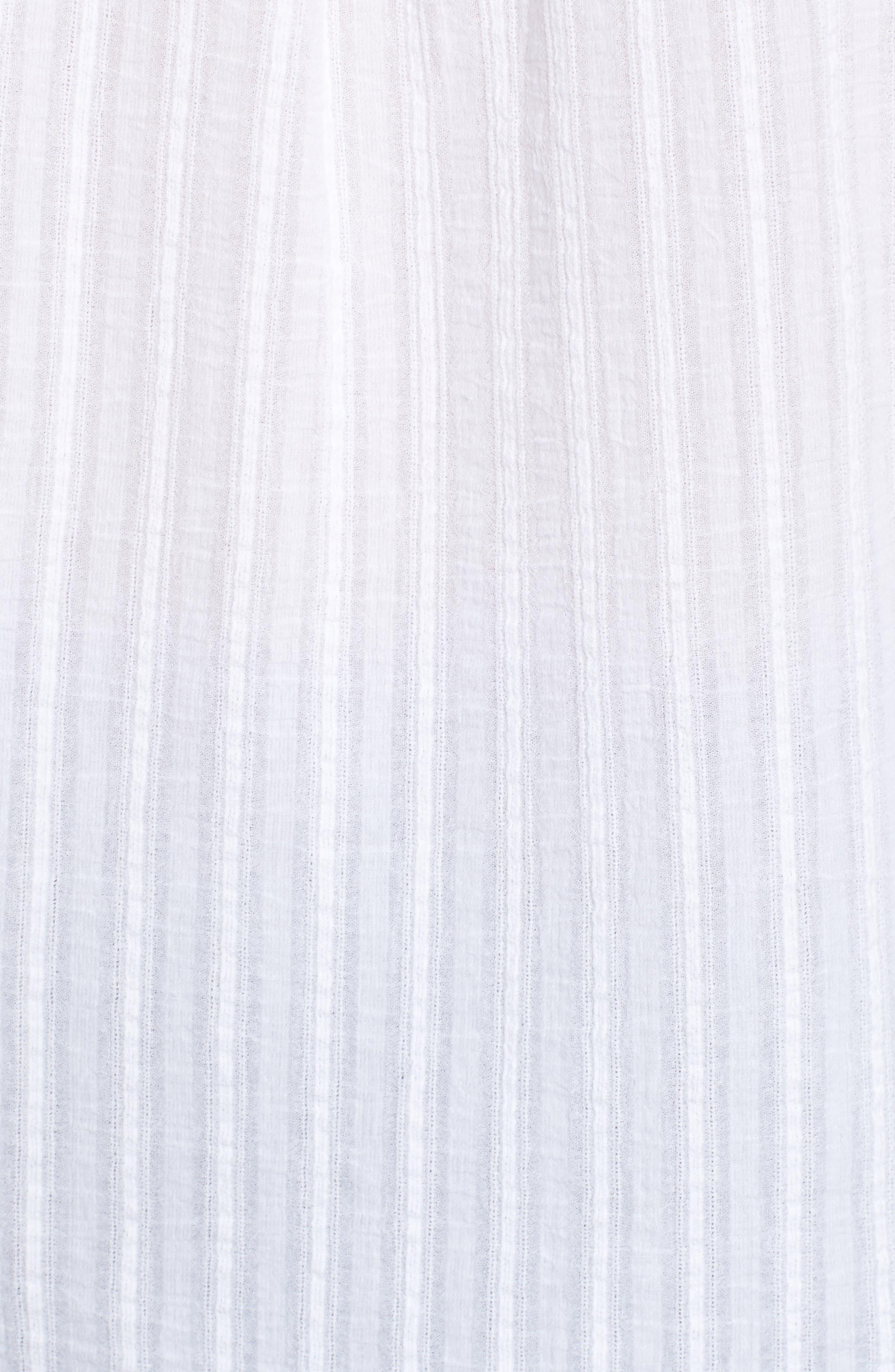 Raw Hem Shirt,                             Alternate thumbnail 5, color,                             100
