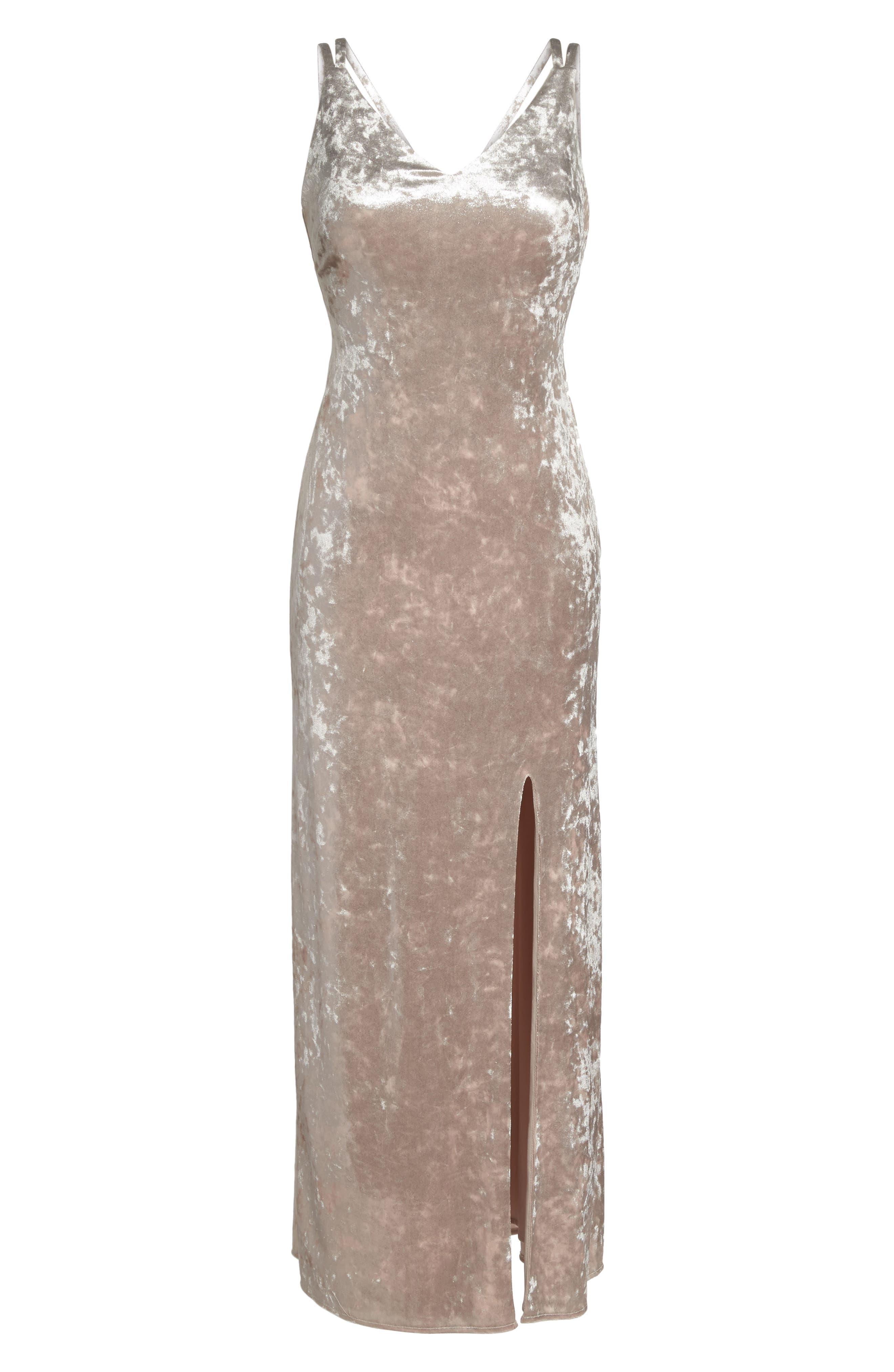 Strappy Velvet Gown,                             Alternate thumbnail 6, color,                             273