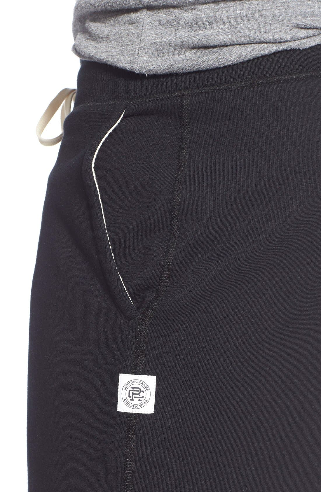 Terry Cotton Sweat Shorts,                             Alternate thumbnail 4, color,                             001