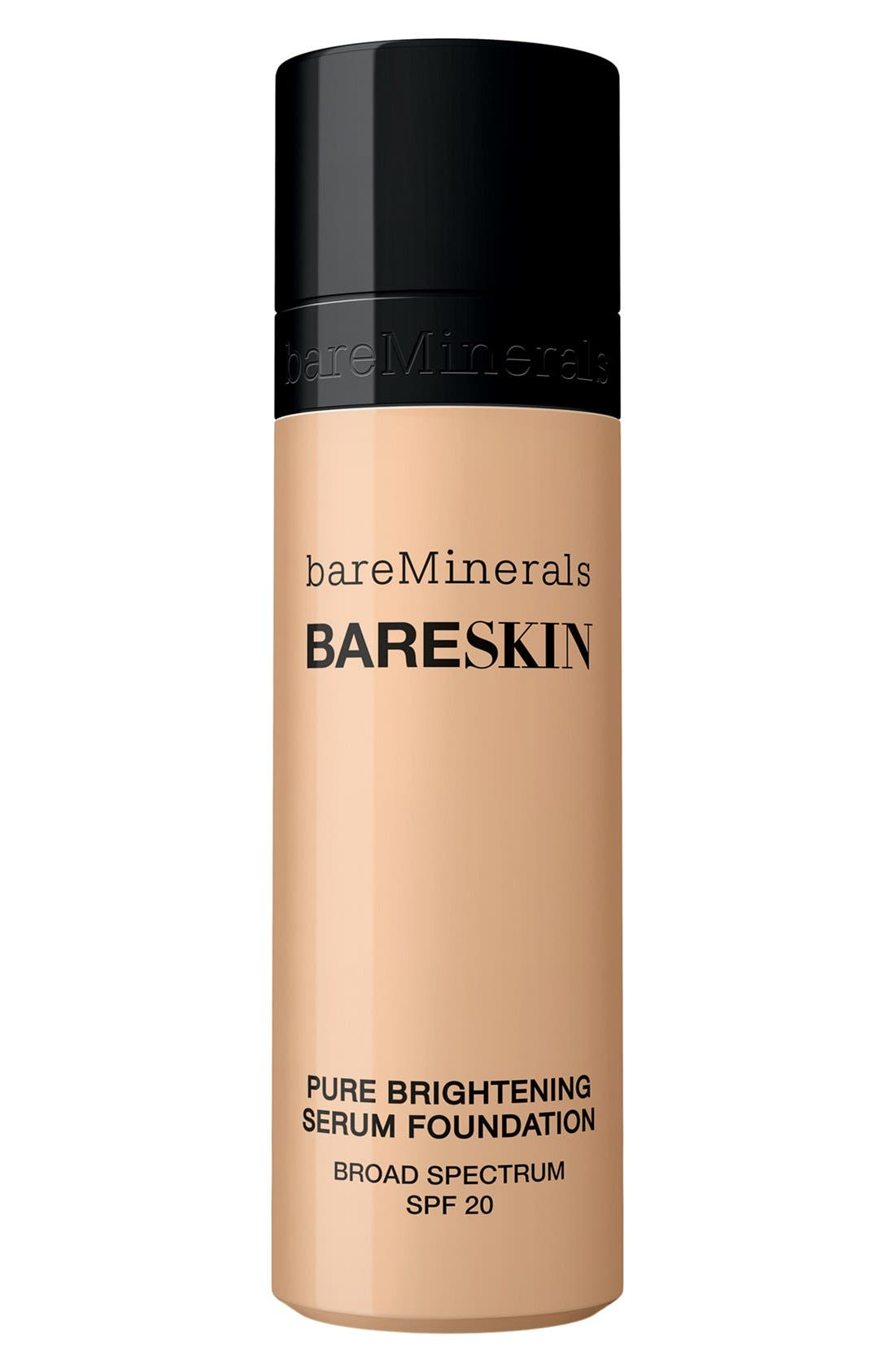 BAREMINERALS<SUP>®</SUP>,                             bareSkin<sup>®</sup> Pure Brightening Serum Foundation Broad Spectrum SPF 20,                             Main thumbnail 1, color,                             02 BARE SHELL