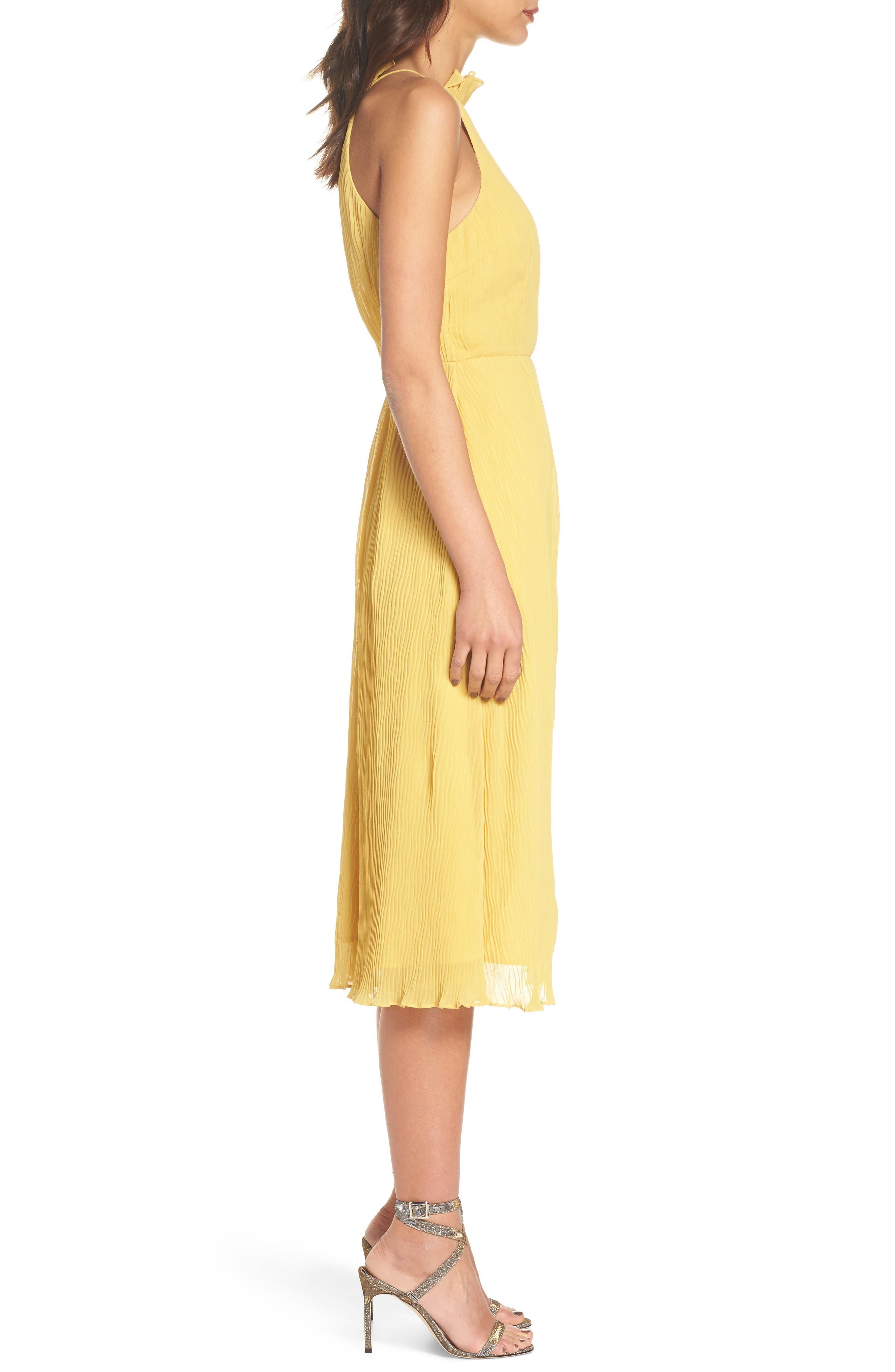 Skylines Halter Midi Dress,                             Alternate thumbnail 6, color,