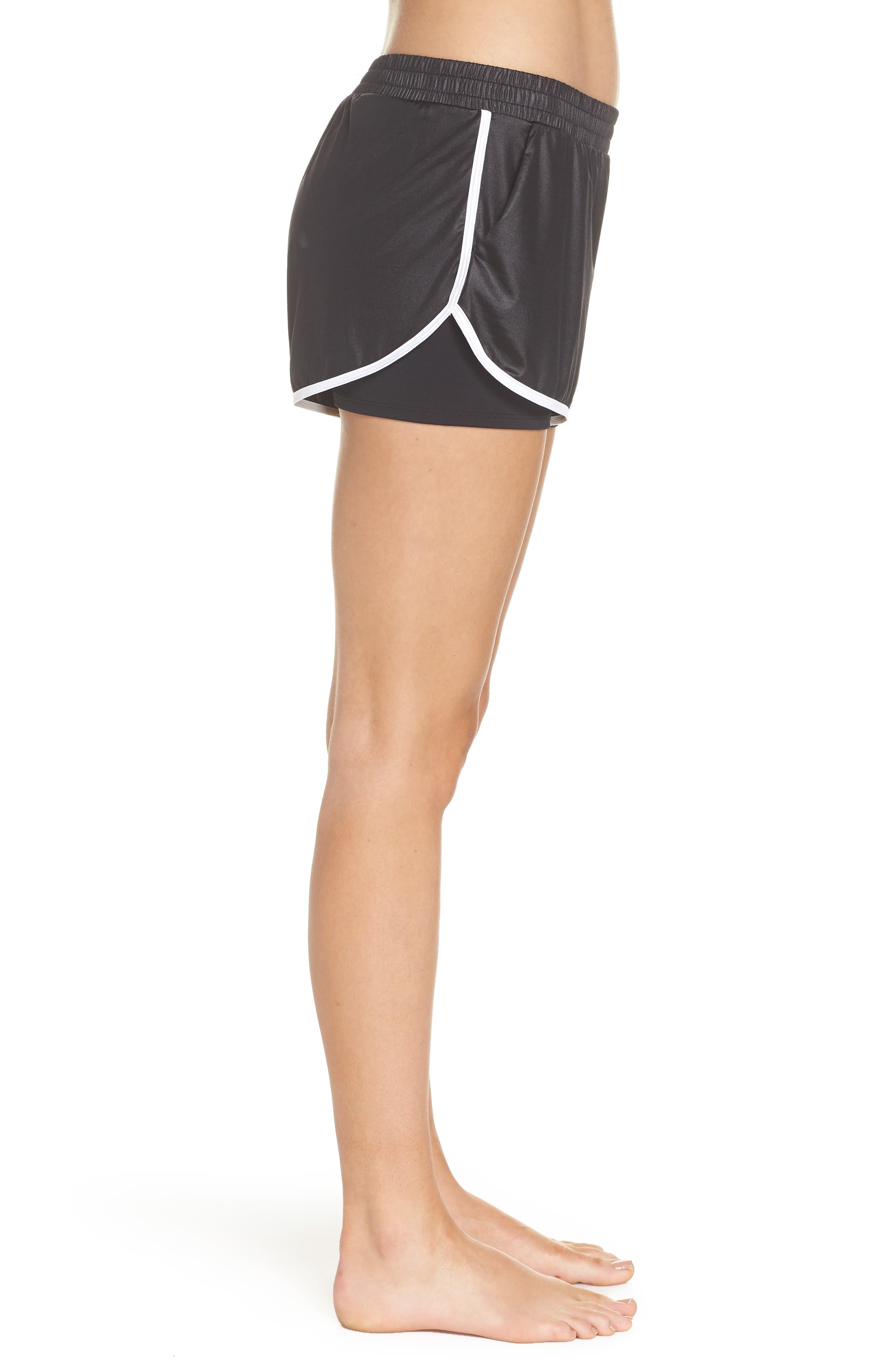 Scout Gym Shorts,                             Alternate thumbnail 3, color,                             BLACK/ WHITE