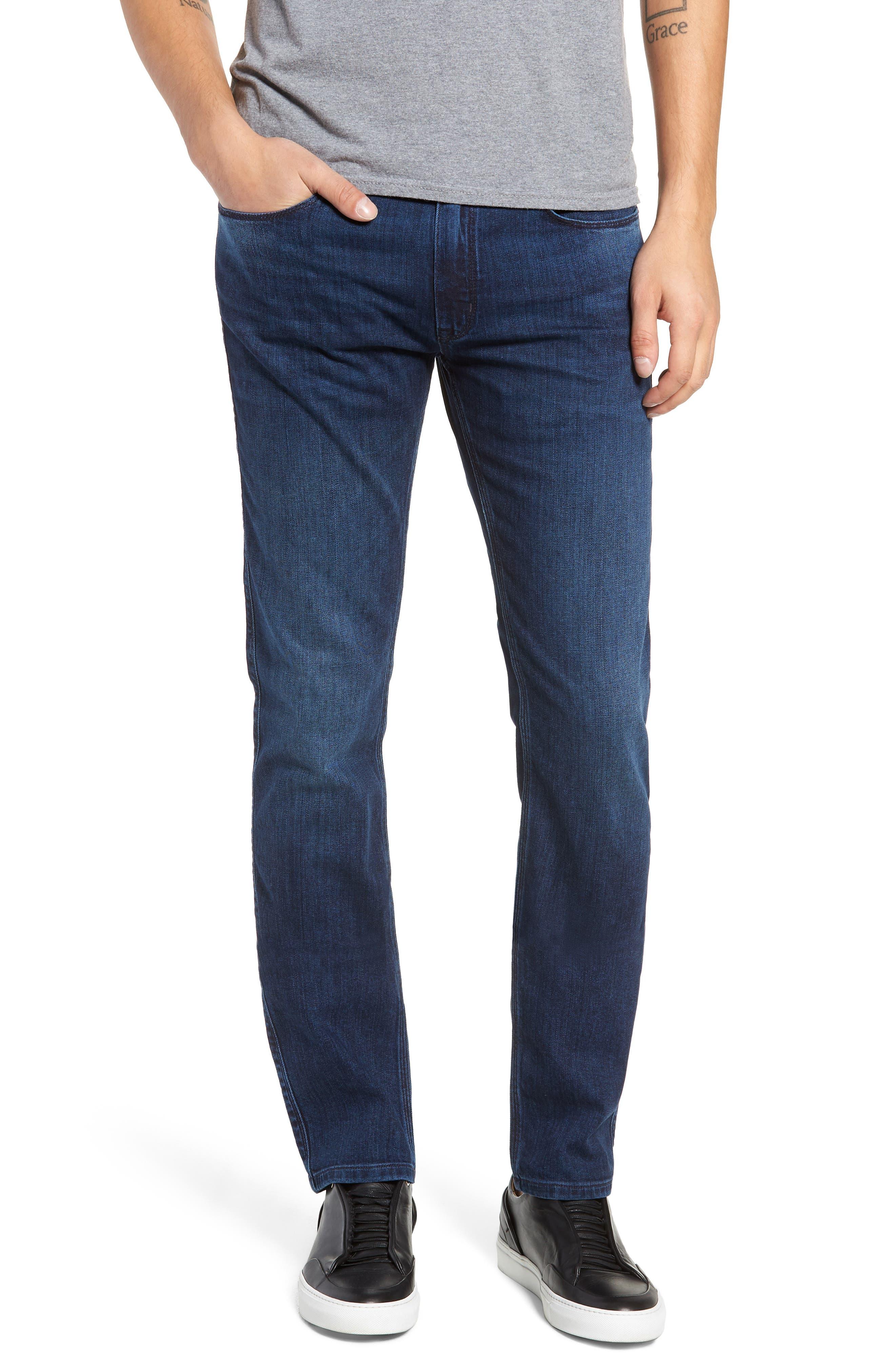 708 Stretch Slim Fit Jeans,                             Main thumbnail 1, color,                             BLUE