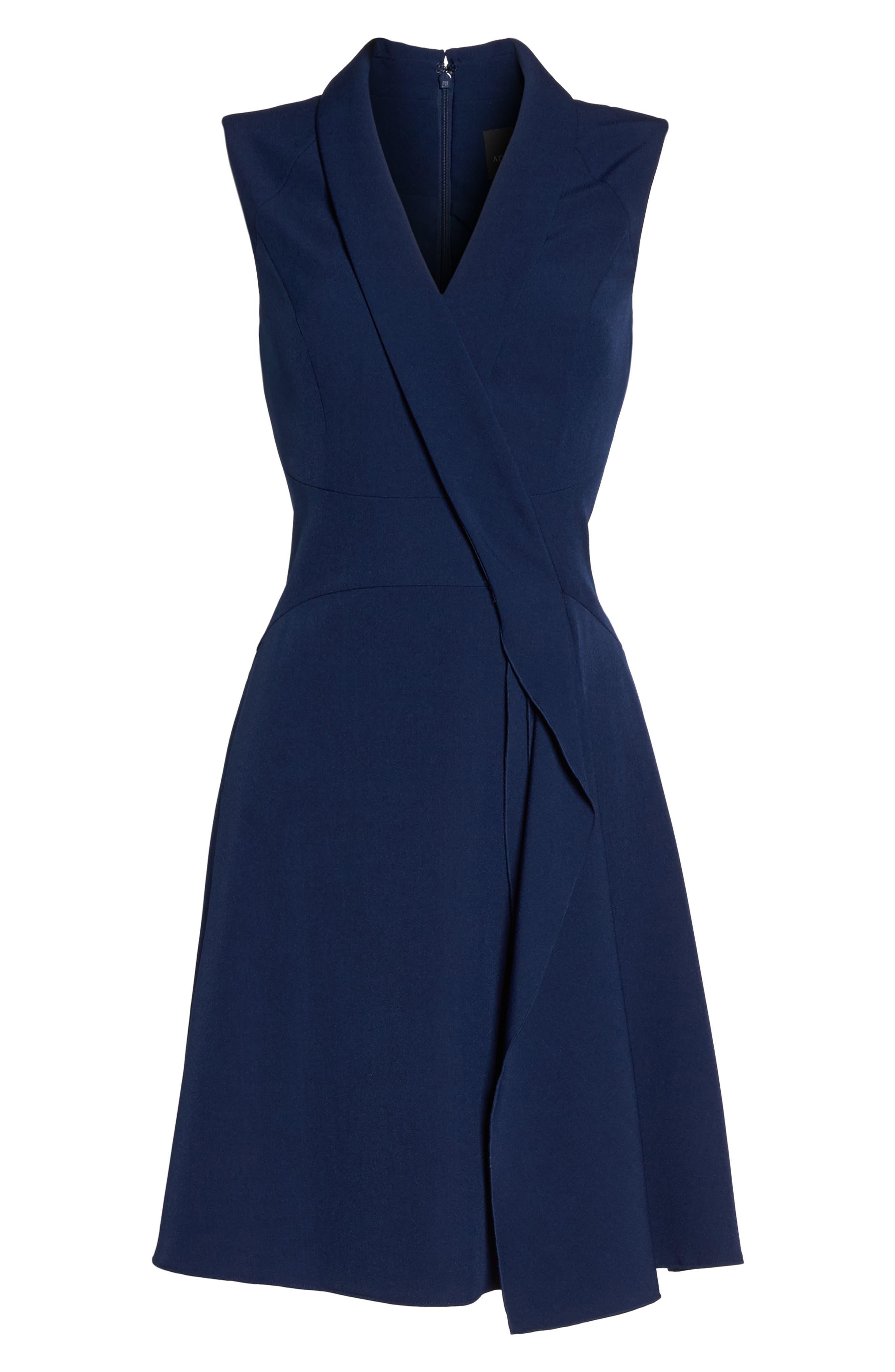 Stretch Crepe A-Line Dress,                             Alternate thumbnail 6, color,                             413