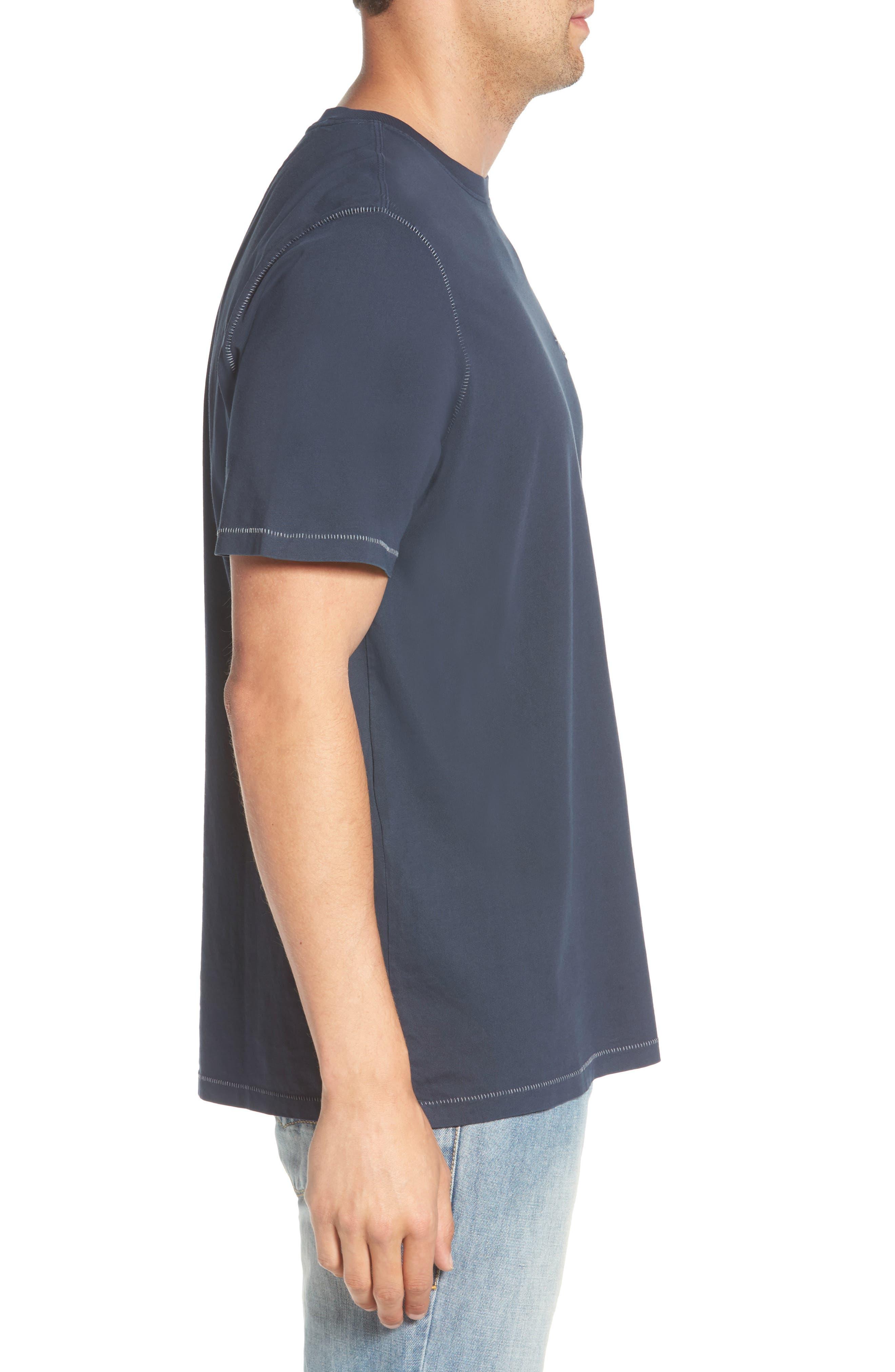 Beach Crewneck T-Shirt,                             Alternate thumbnail 3, color,                             BLUE NOTE