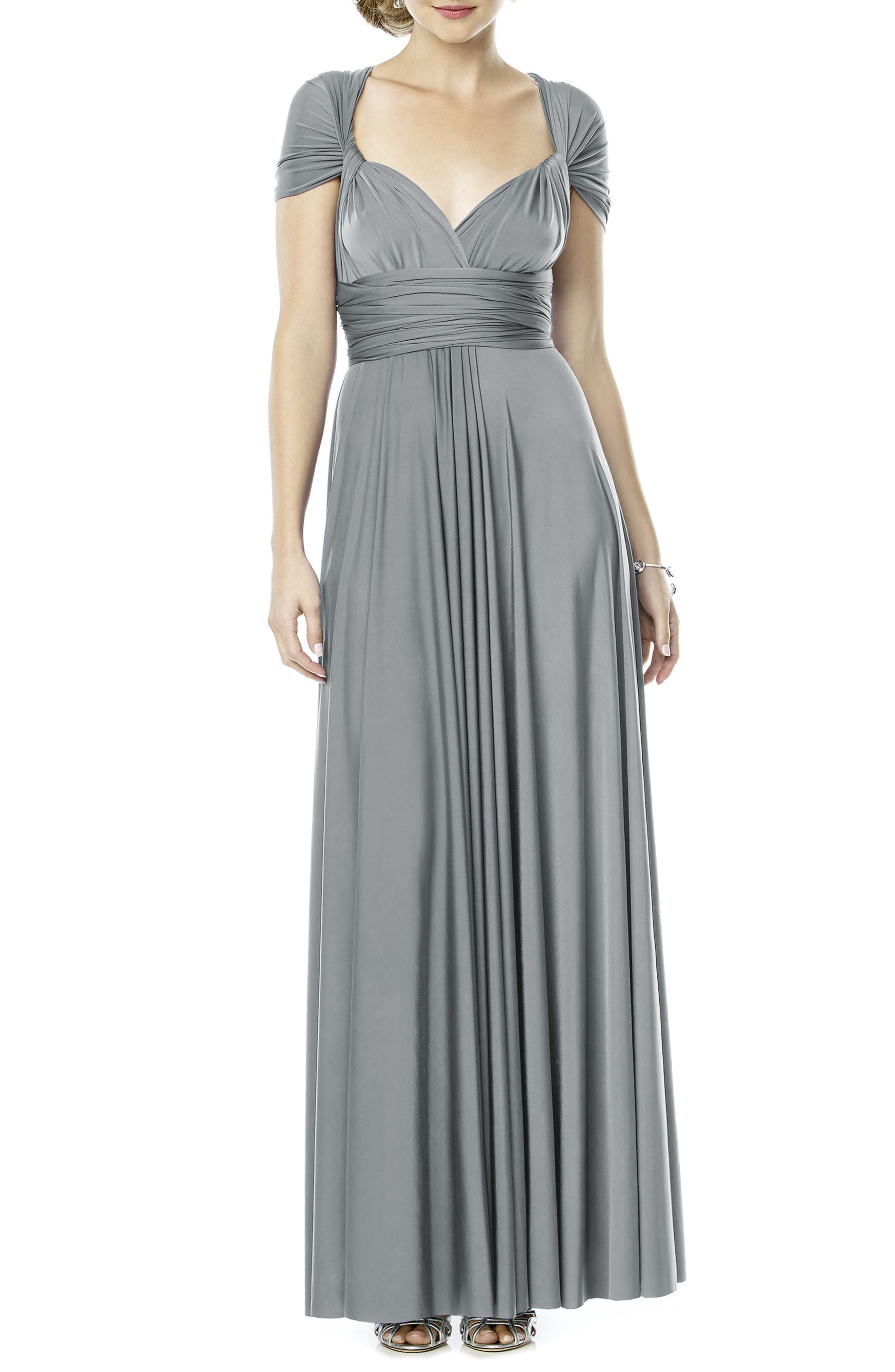 DESSY COLLECTION,                             Convertible Wrap Tie Surplice Jersey Gown,                             Alternate thumbnail 2, color,                             033