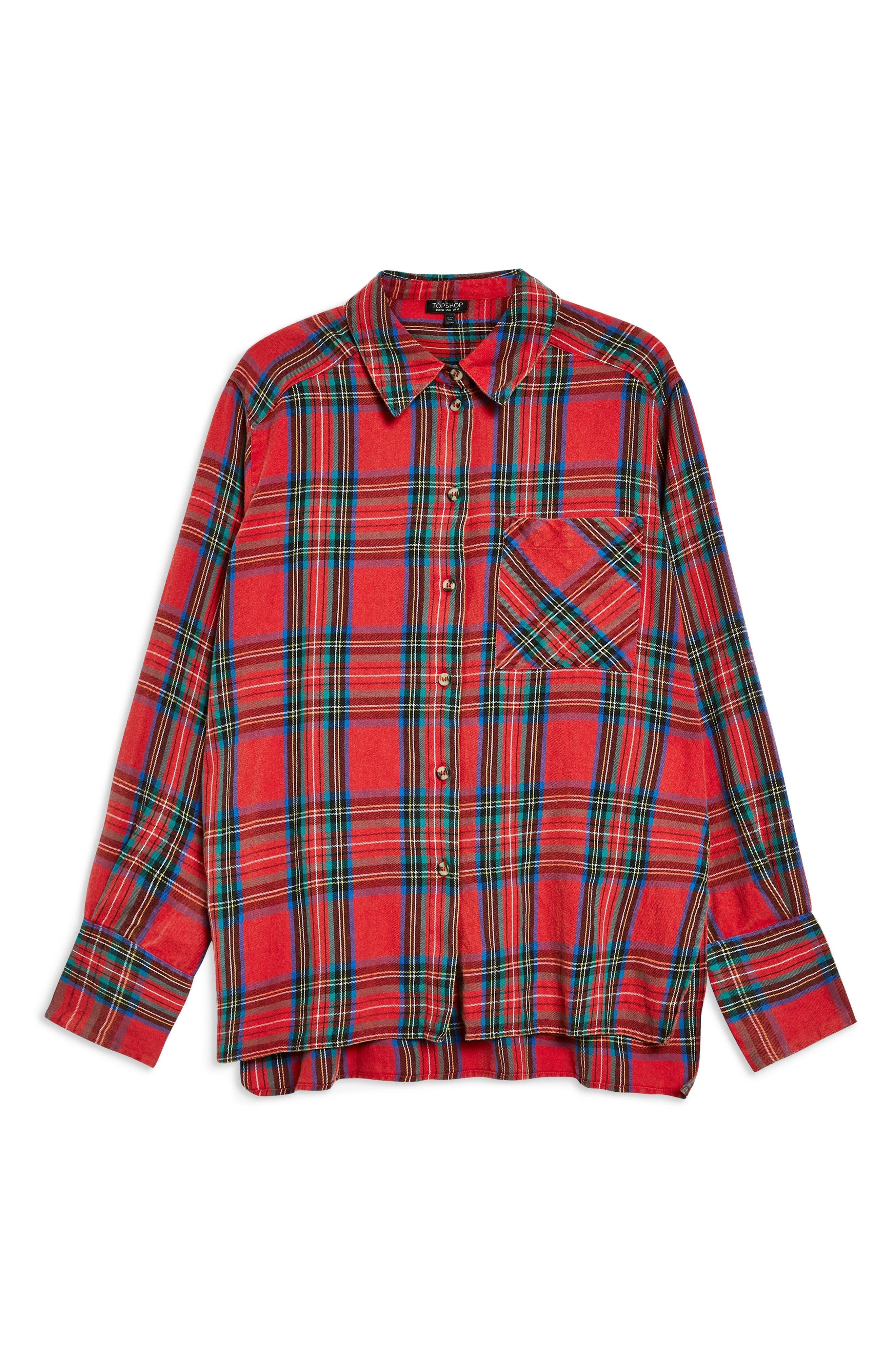 Plaid Shirt,                             Alternate thumbnail 4, color,                             600