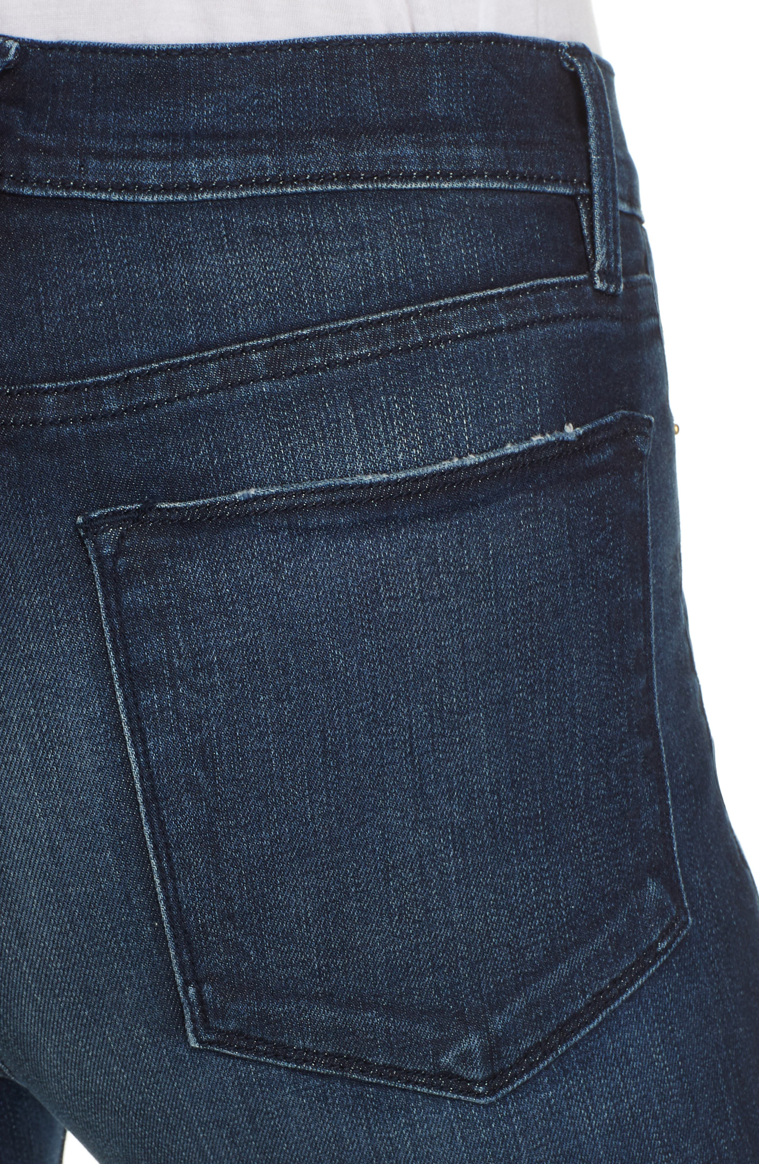 Le High Distressed Skinny Jeans,                             Alternate thumbnail 4, color,                             SWANK