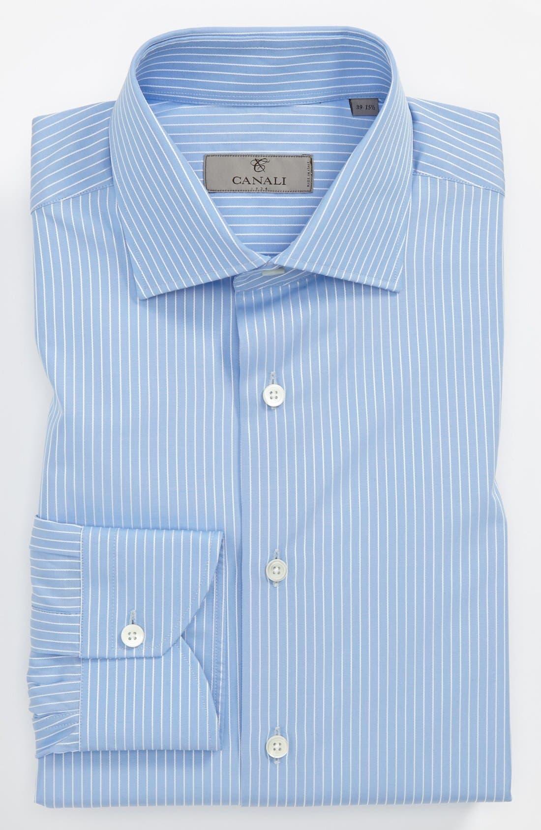 CANALI,                             Regular Fit Dress Shirt,                             Main thumbnail 1, color,                             400