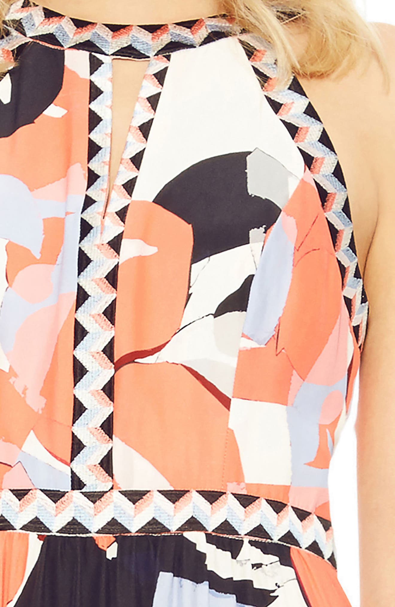 Luella Silk Maxi Dress,                             Alternate thumbnail 3, color,