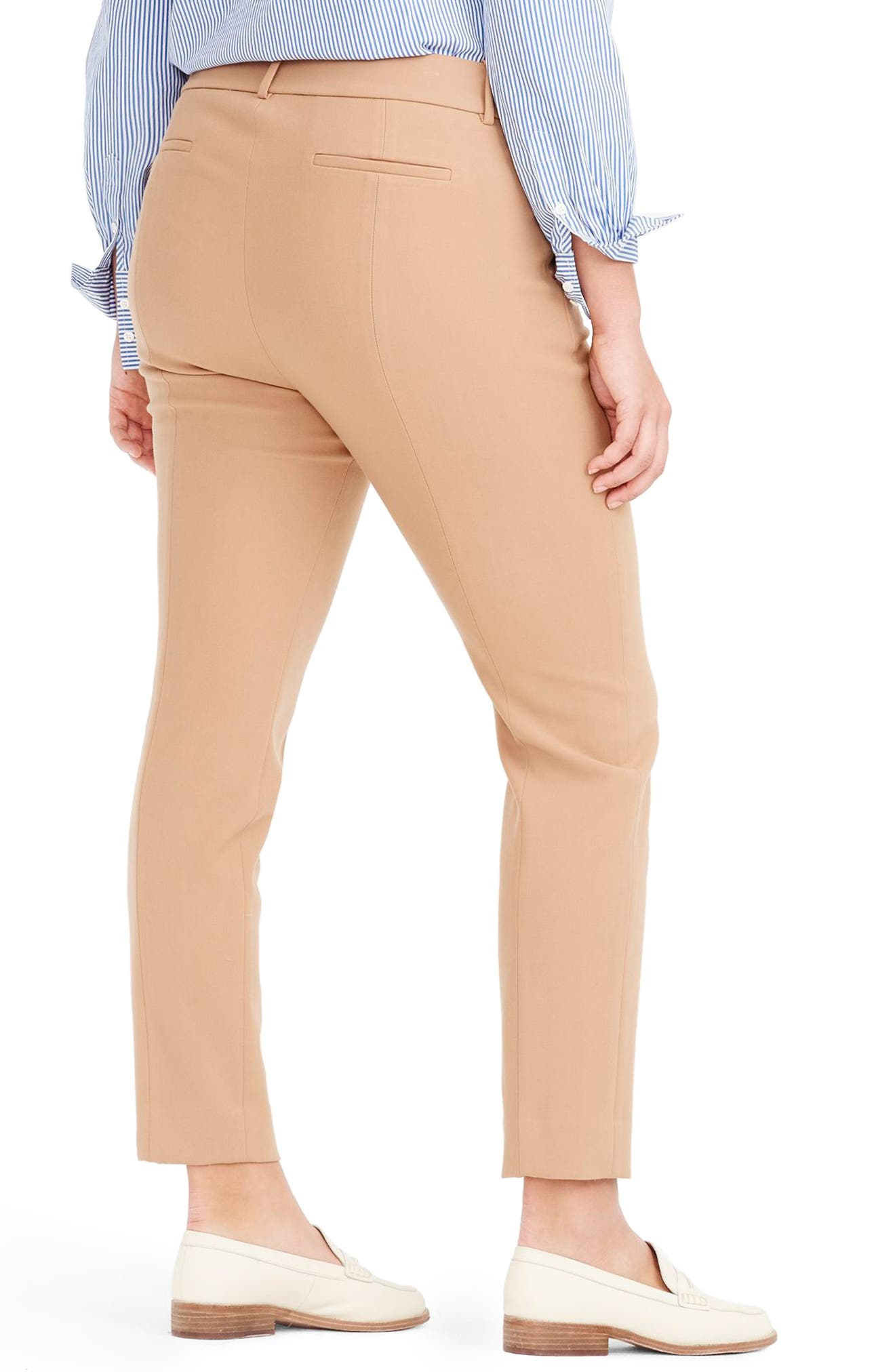 Cameron Four Season Crop Pants,                             Alternate thumbnail 8, color,                             HEATHER SADDLE