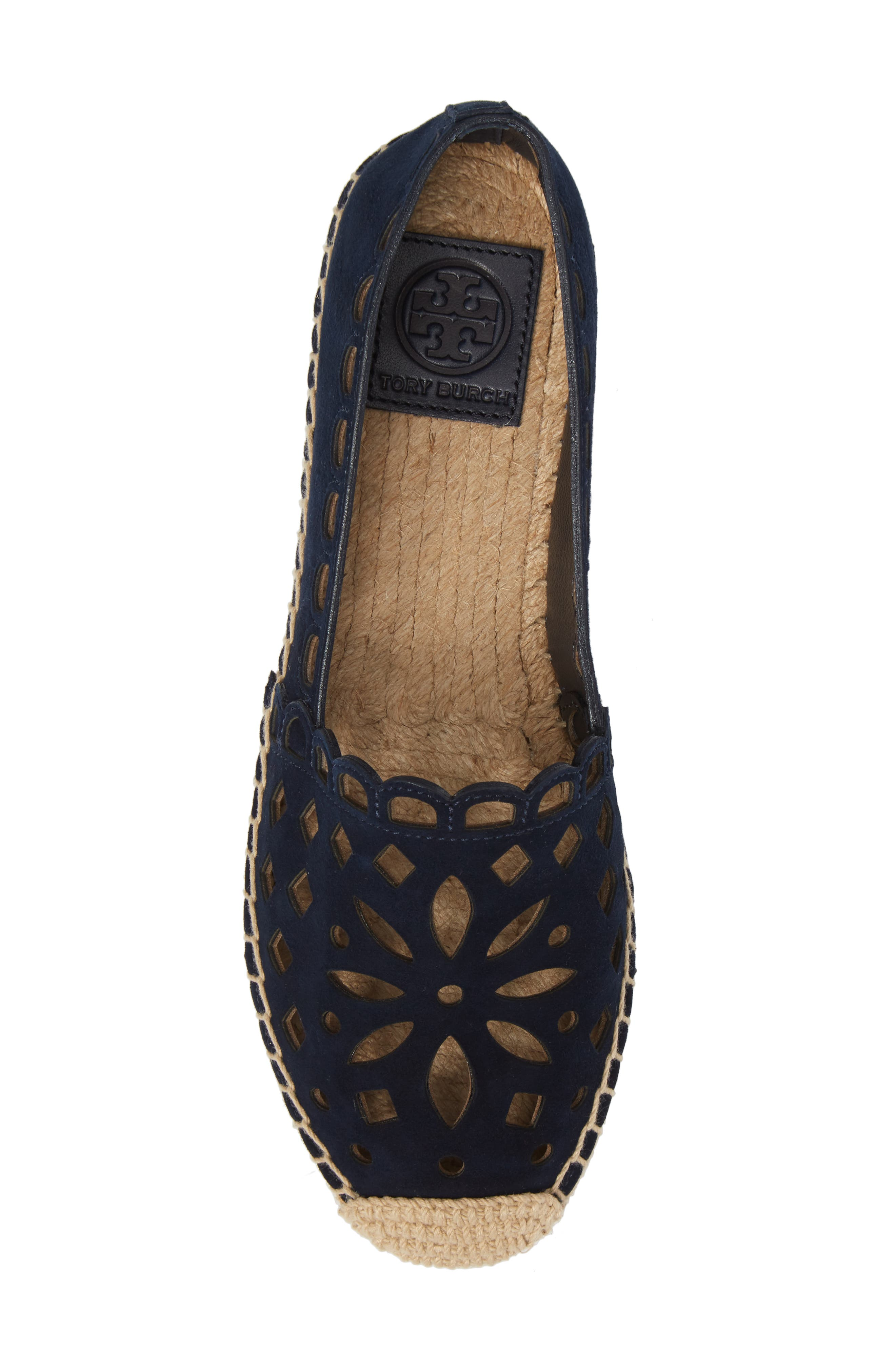 May Perforated Espadrille Flat,                             Alternate thumbnail 5, color,                             430