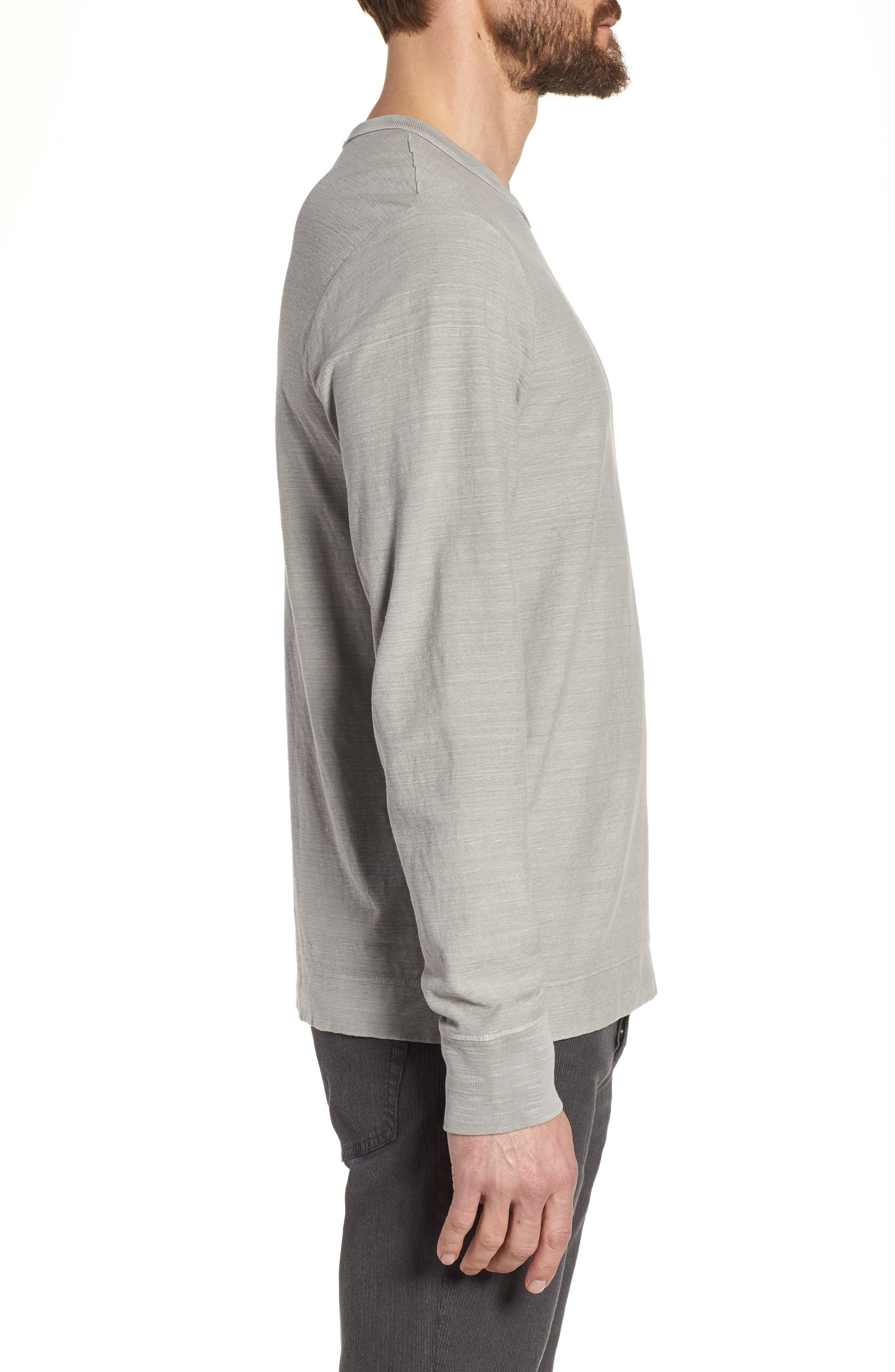 Regular Fit Slub Crewneck T-Shirt,                             Alternate thumbnail 3, color,                             056