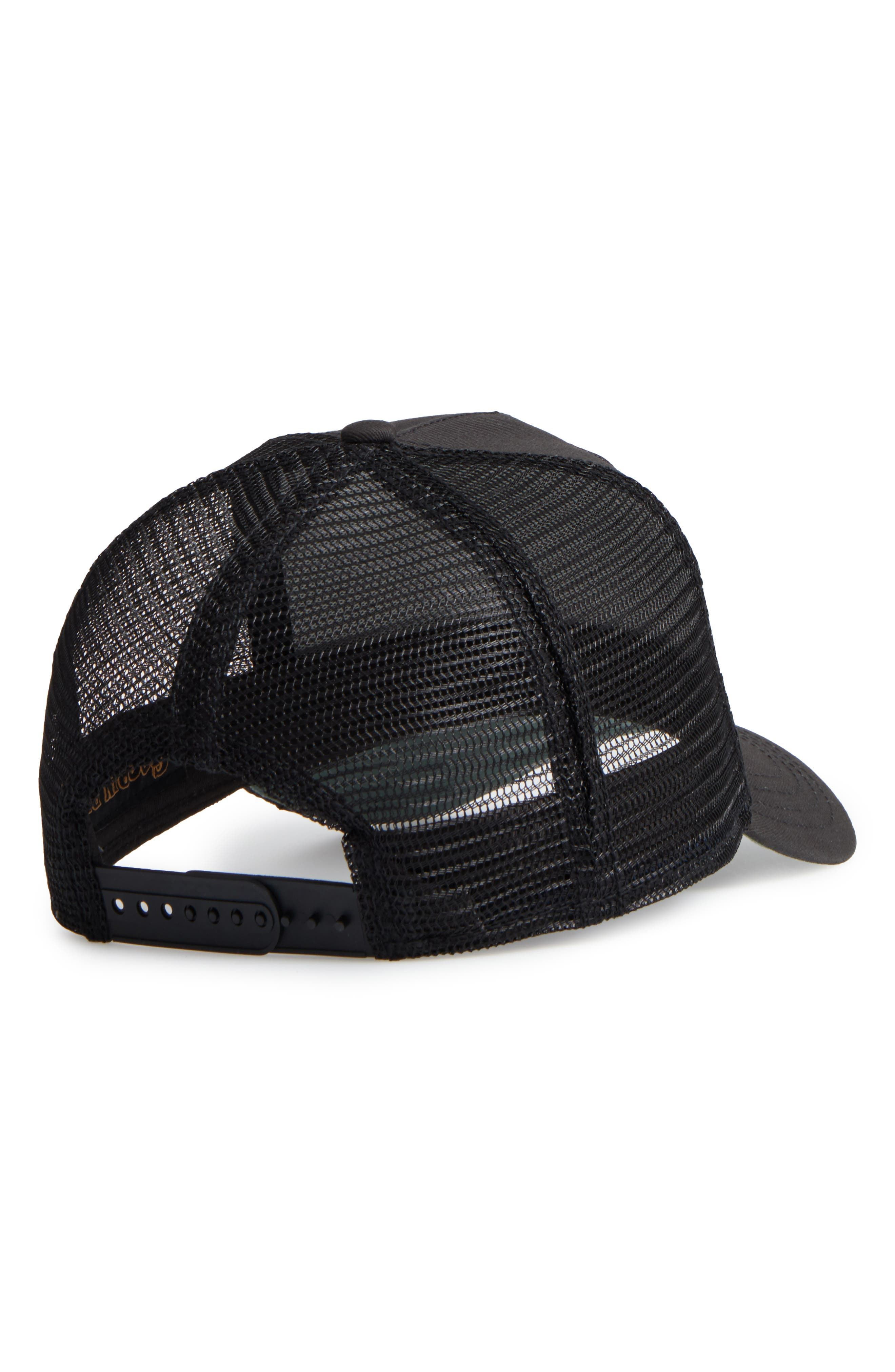 'Stallion' Trucker Hat,                             Alternate thumbnail 3, color,                             BLACK