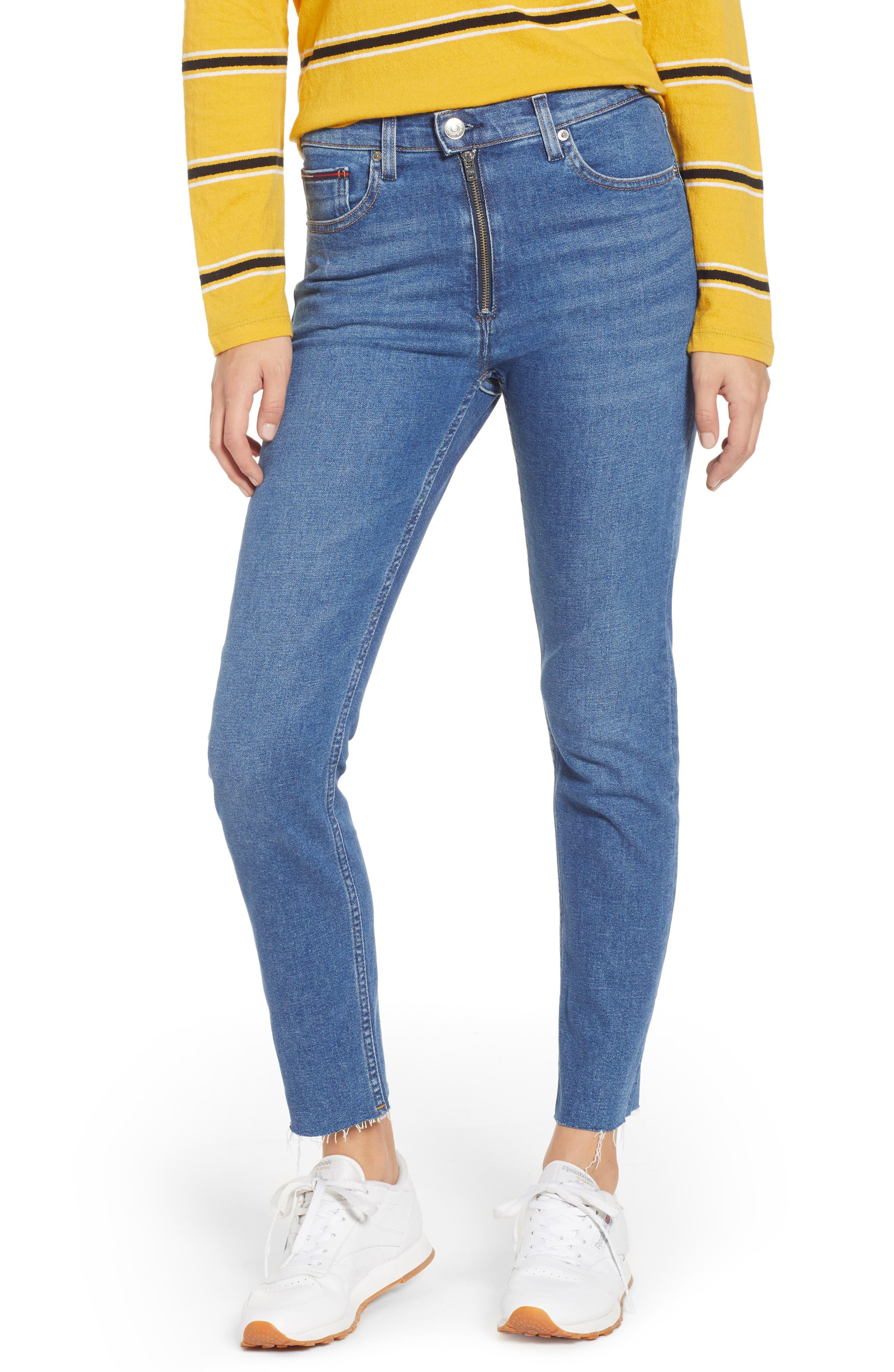 Izzy High Waist Slim Crop Jeans,                             Main thumbnail 1, color,                             400