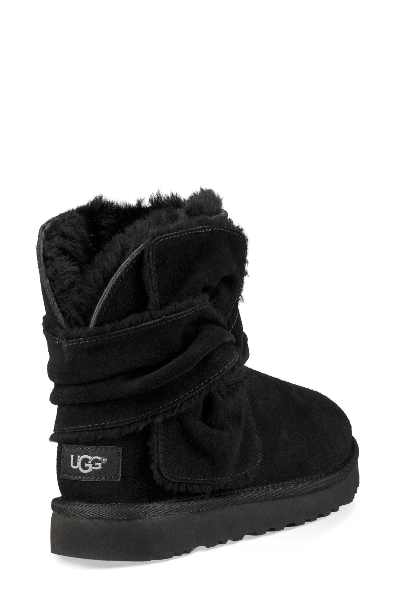 UGG<SUP>®</SUP>,                             Mini Bow Spill Seam Bootie,                             Alternate thumbnail 2, color,                             001