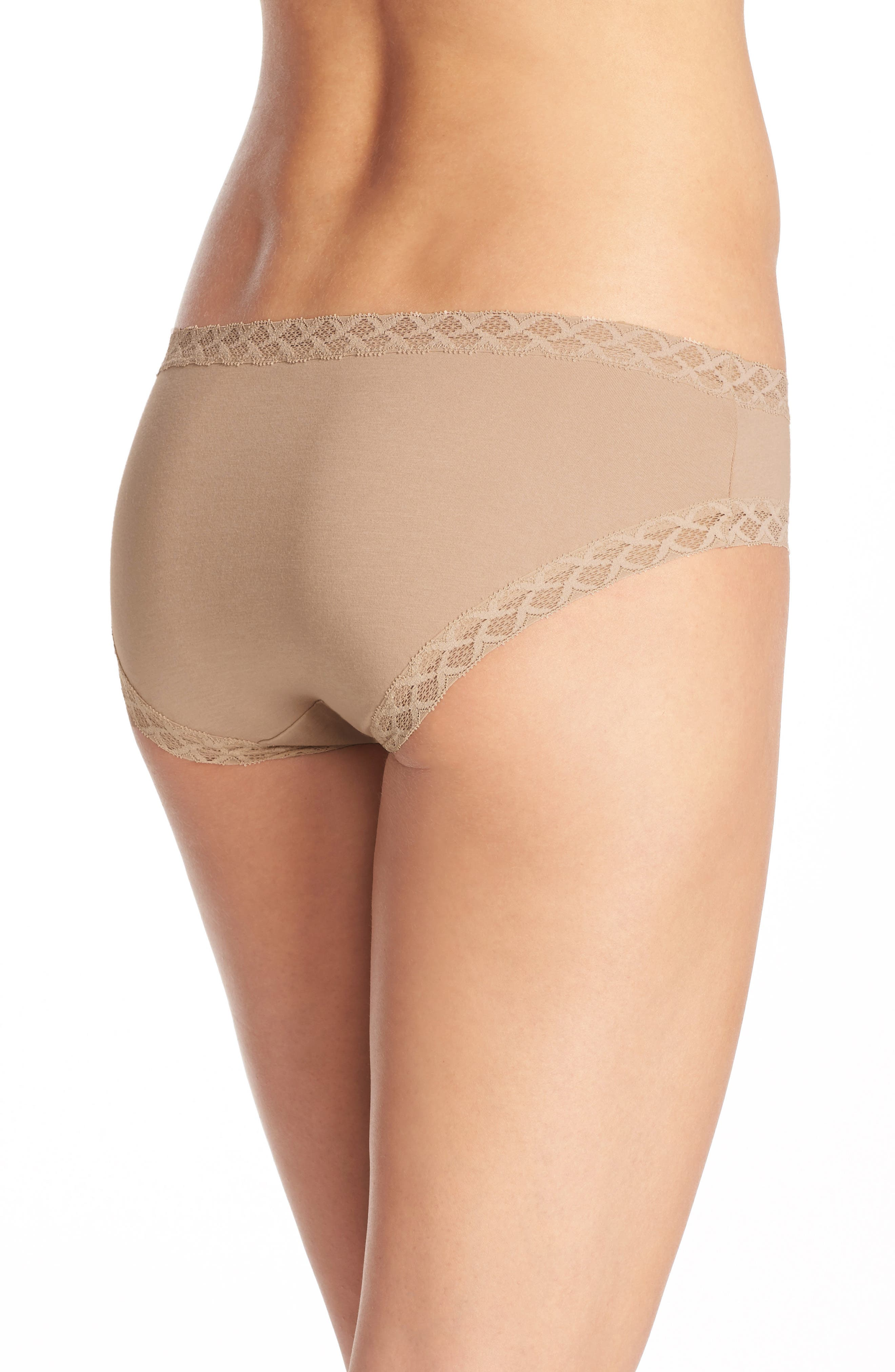 Bliss Cotton Girl Briefs,                             Alternate thumbnail 2, color,                             CAFE