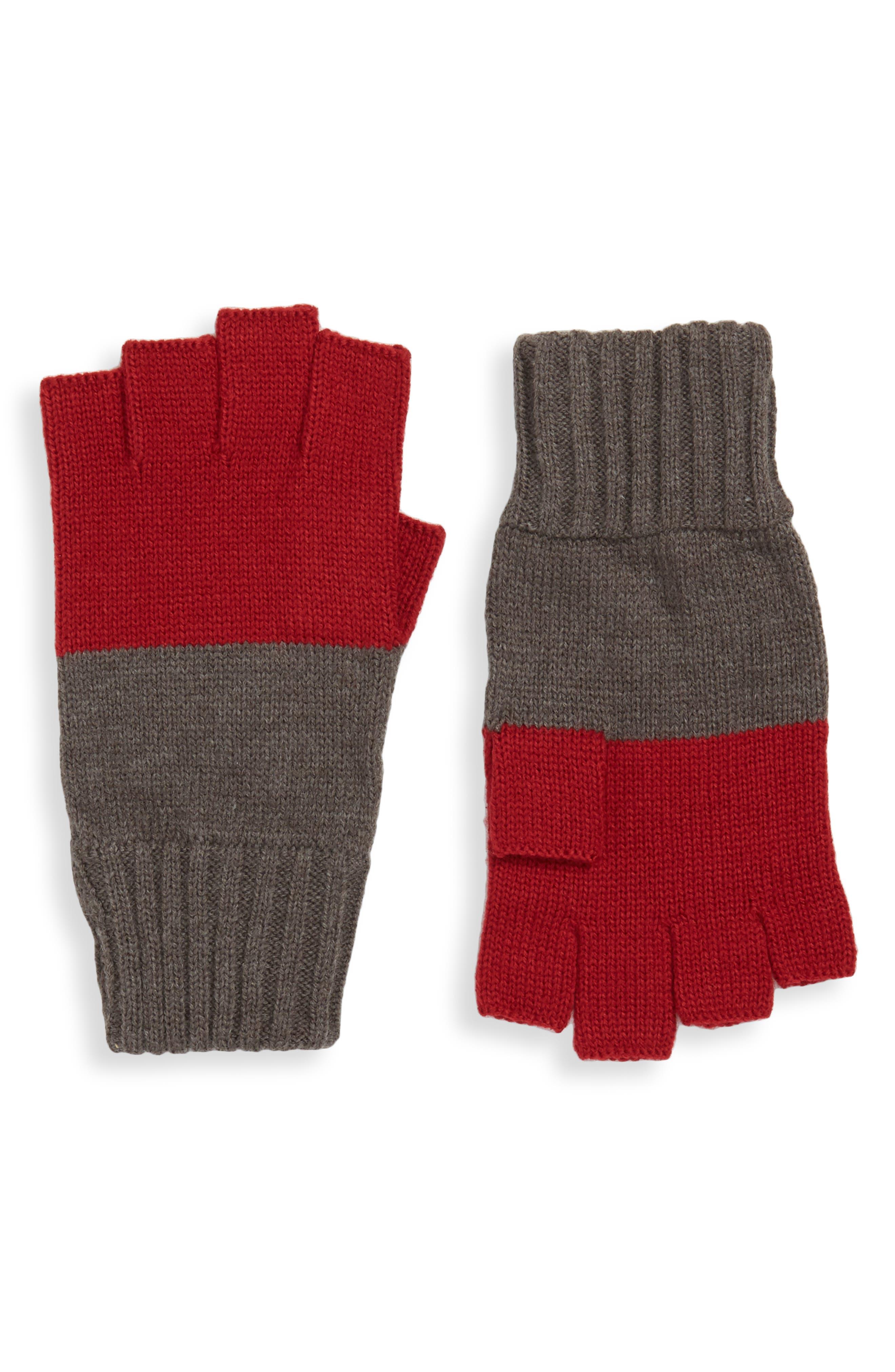 THE RAIL Colorblock Fingerless Gloves, Main, color, 021