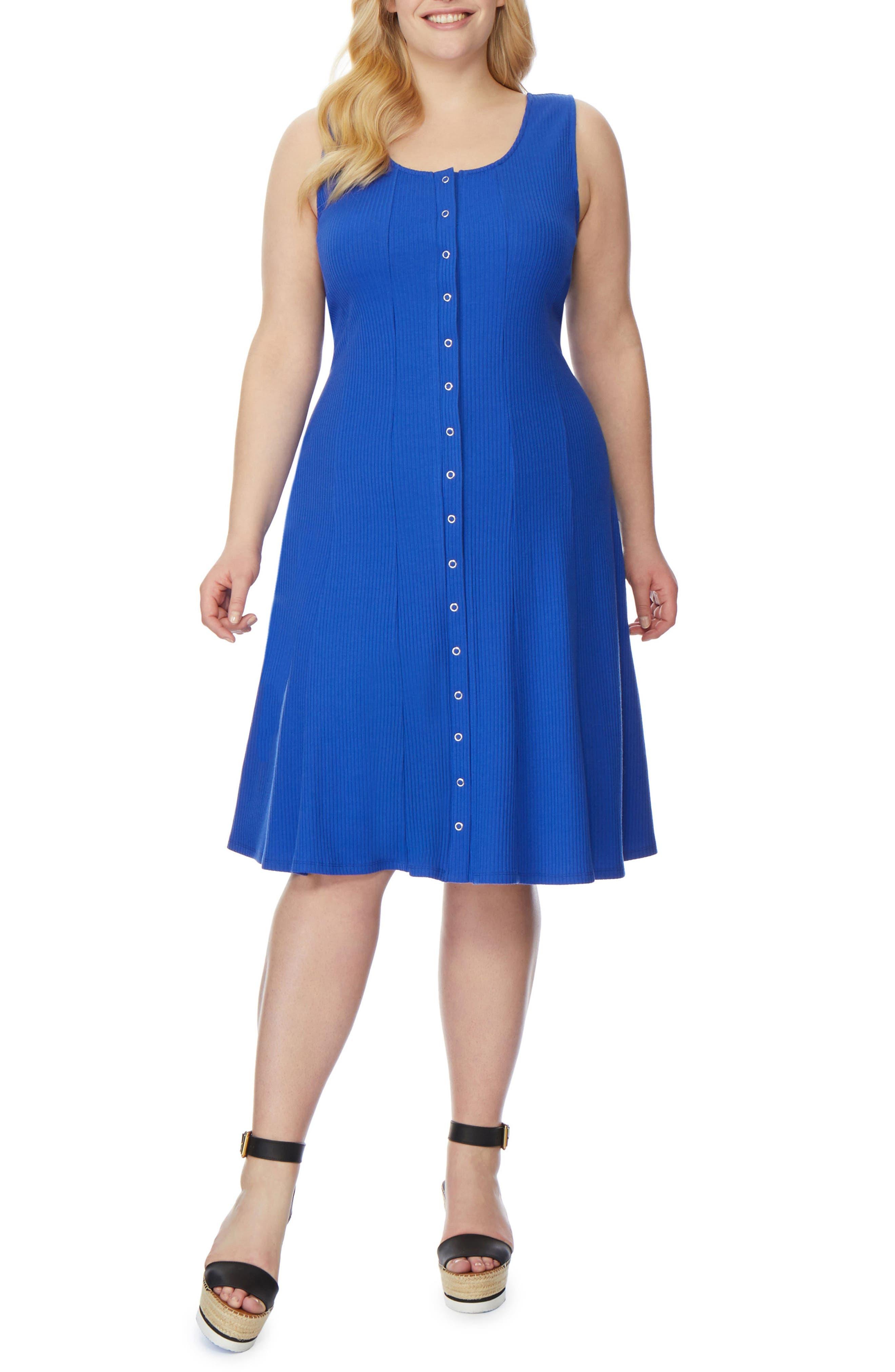 Rib Tank Dress,                             Alternate thumbnail 6, color,                             424