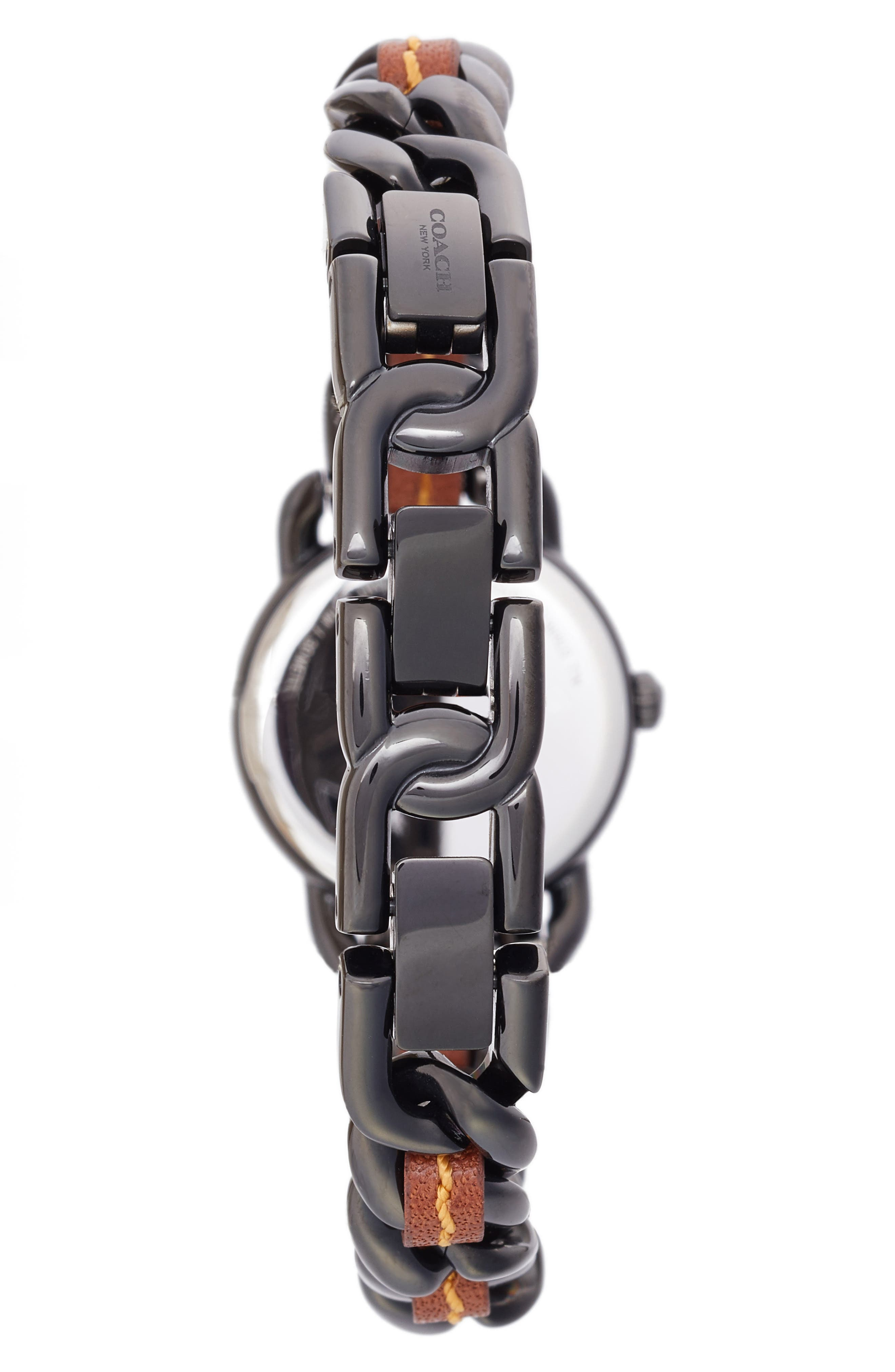 Delancey Leather Chain Watch, 23mm,                             Alternate thumbnail 2, color,                             002