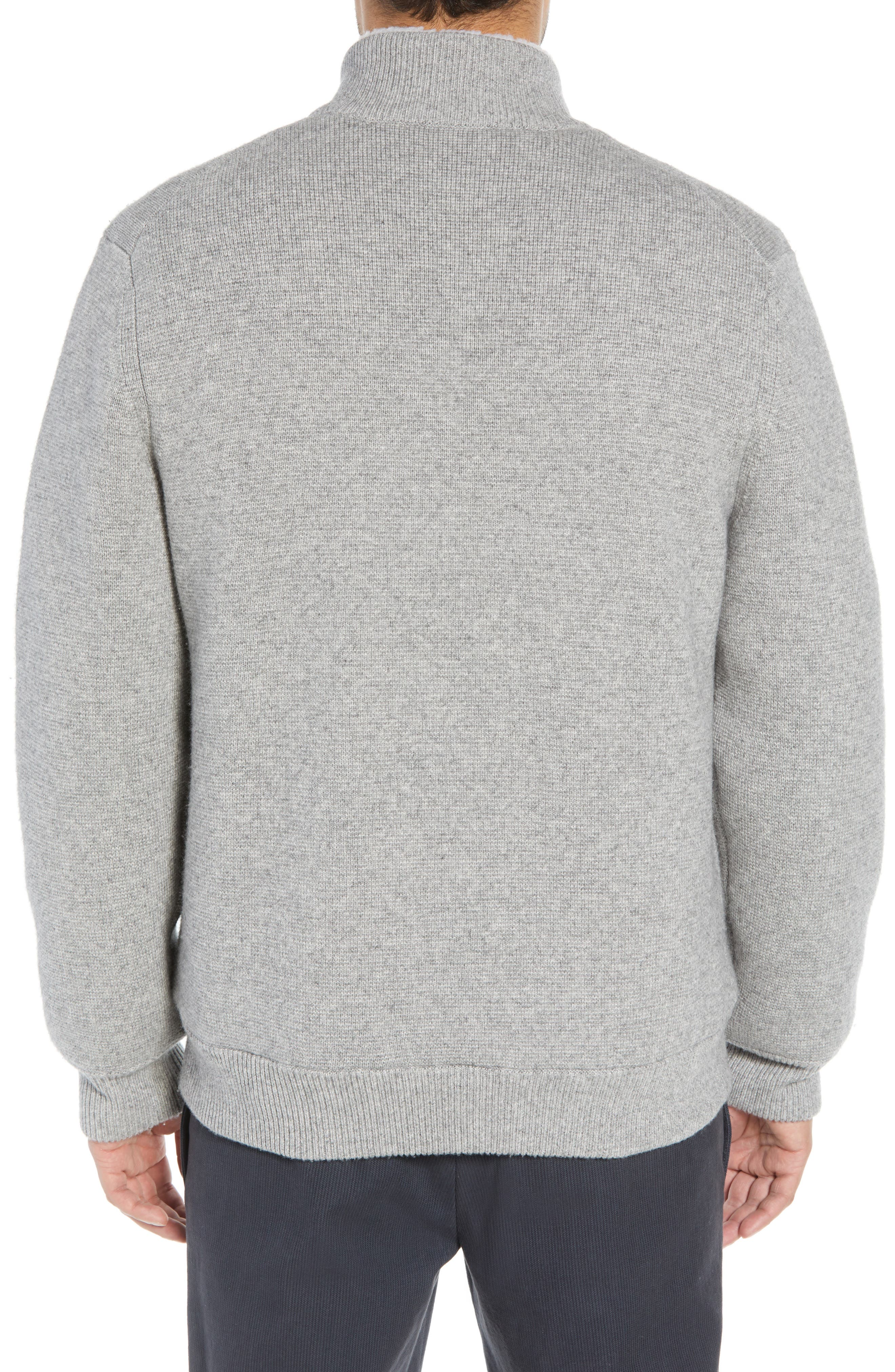 Regular Fit Wool Sweater with Faux Fur Lining,                             Alternate thumbnail 2, color,                             H GREY