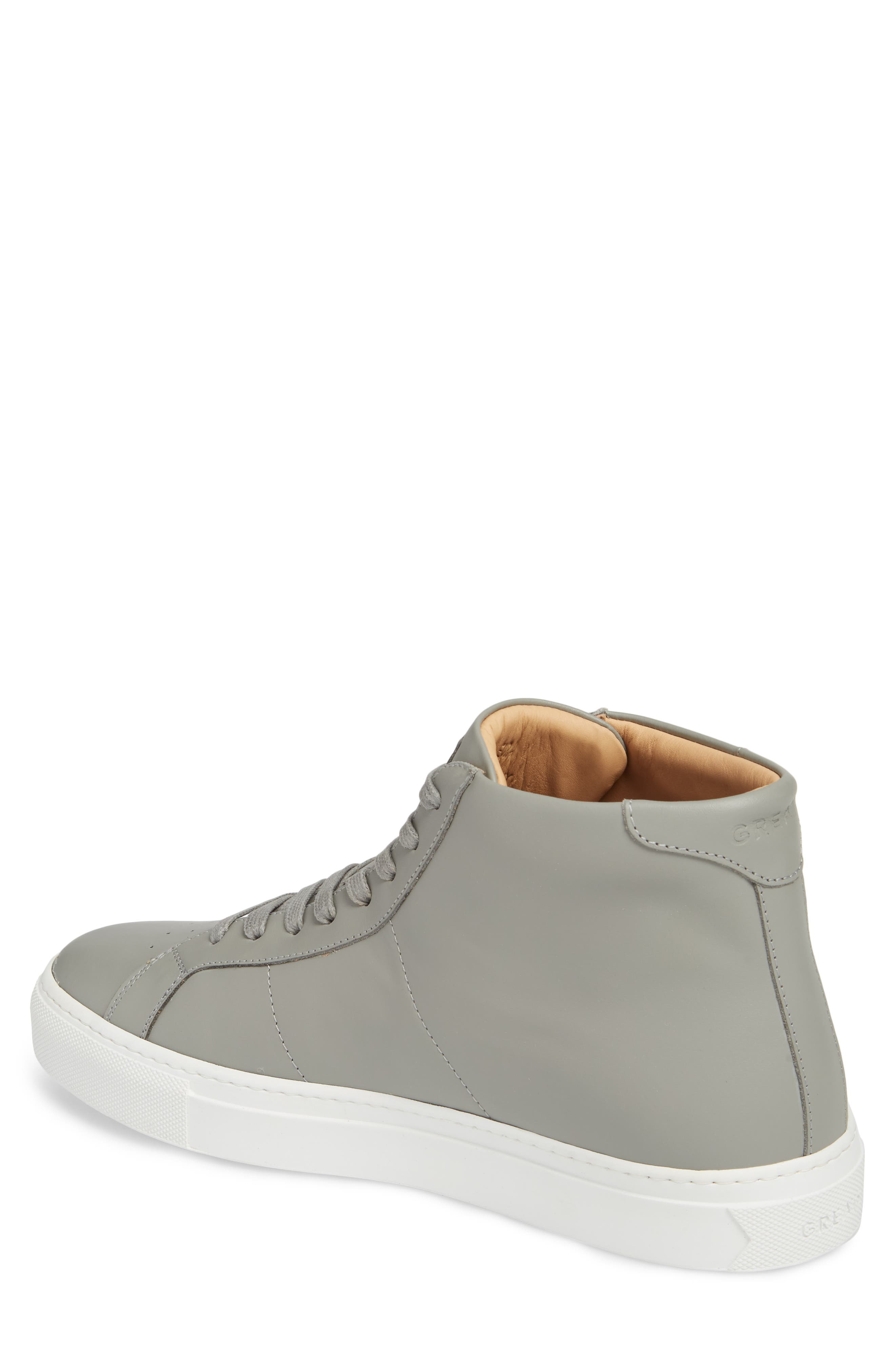 Royale High Top Sneaker,                             Alternate thumbnail 2, color,                             GREY LEATHER