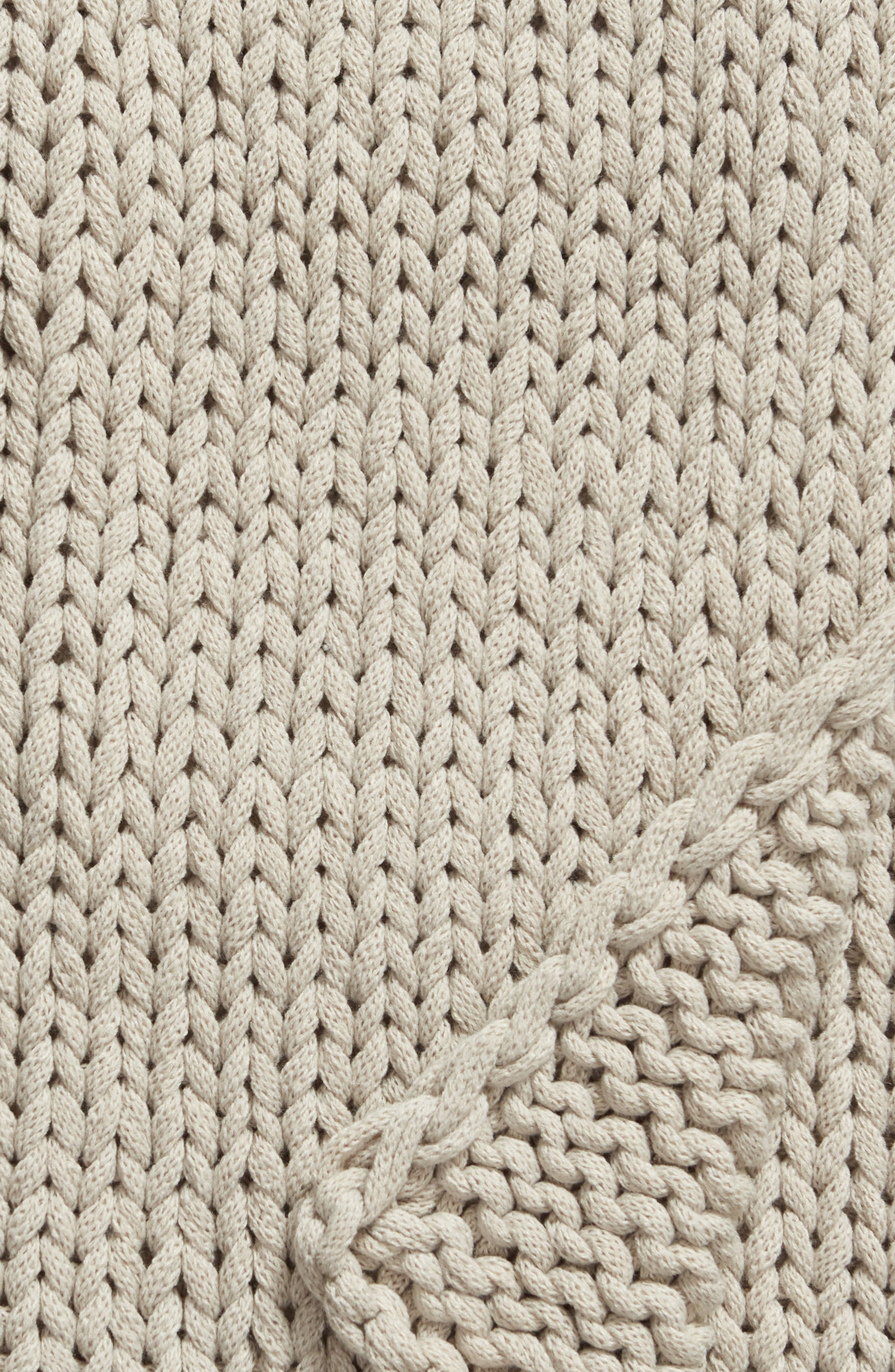 TREASURE & BOND,                             Jersey Rope Throw Blanket,                             Alternate thumbnail 2, color,                             GREY OWL