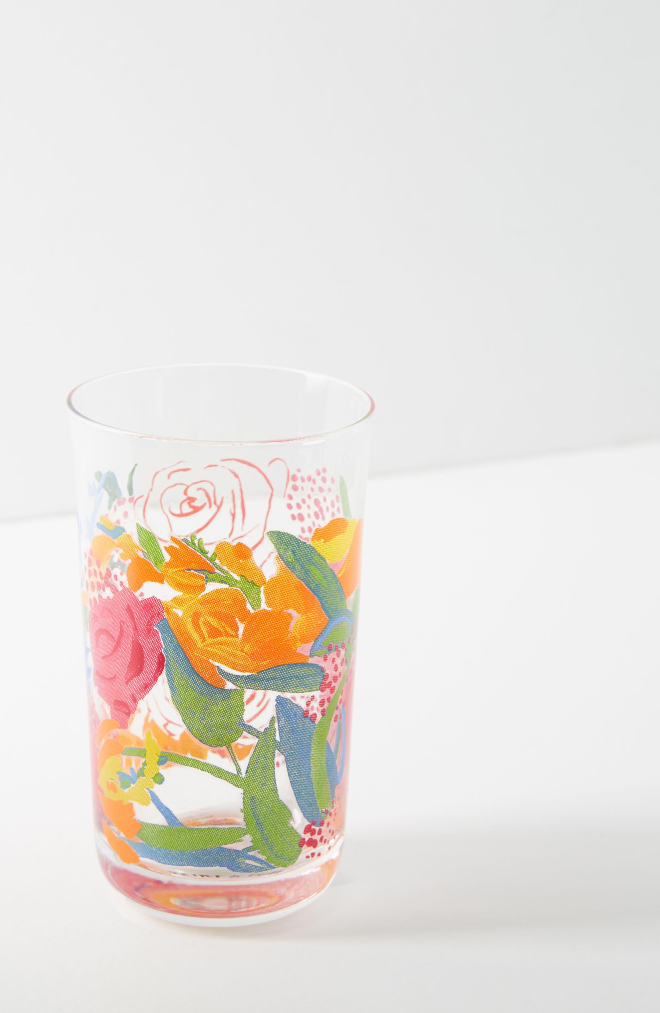 Paint + Petals Juice Glass,                             Alternate thumbnail 2, color,                             PURPLE
