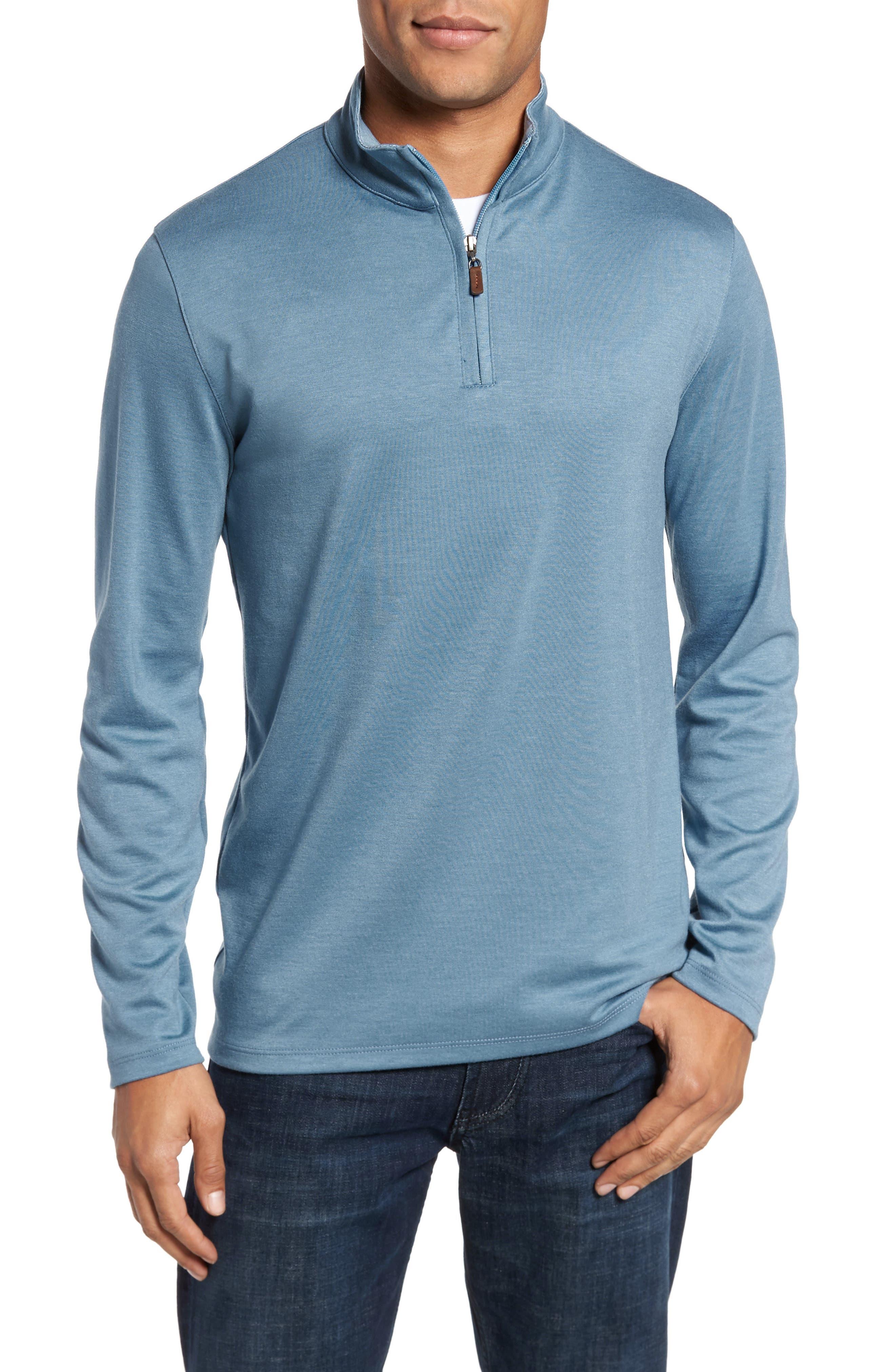 Quarter Zip Pullover,                             Main thumbnail 1, color,                             BLUE