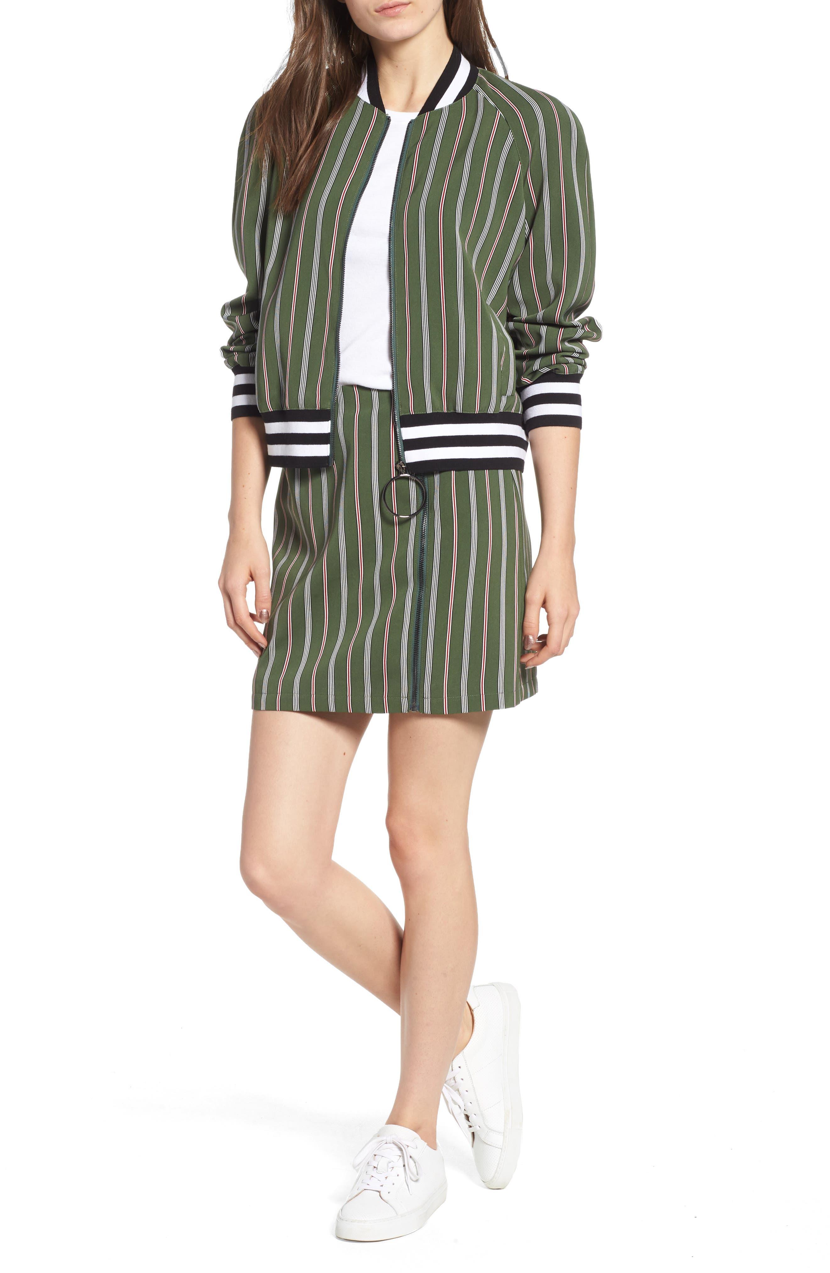 Axial Stripe Miniskirt,                             Alternate thumbnail 7, color,                             300