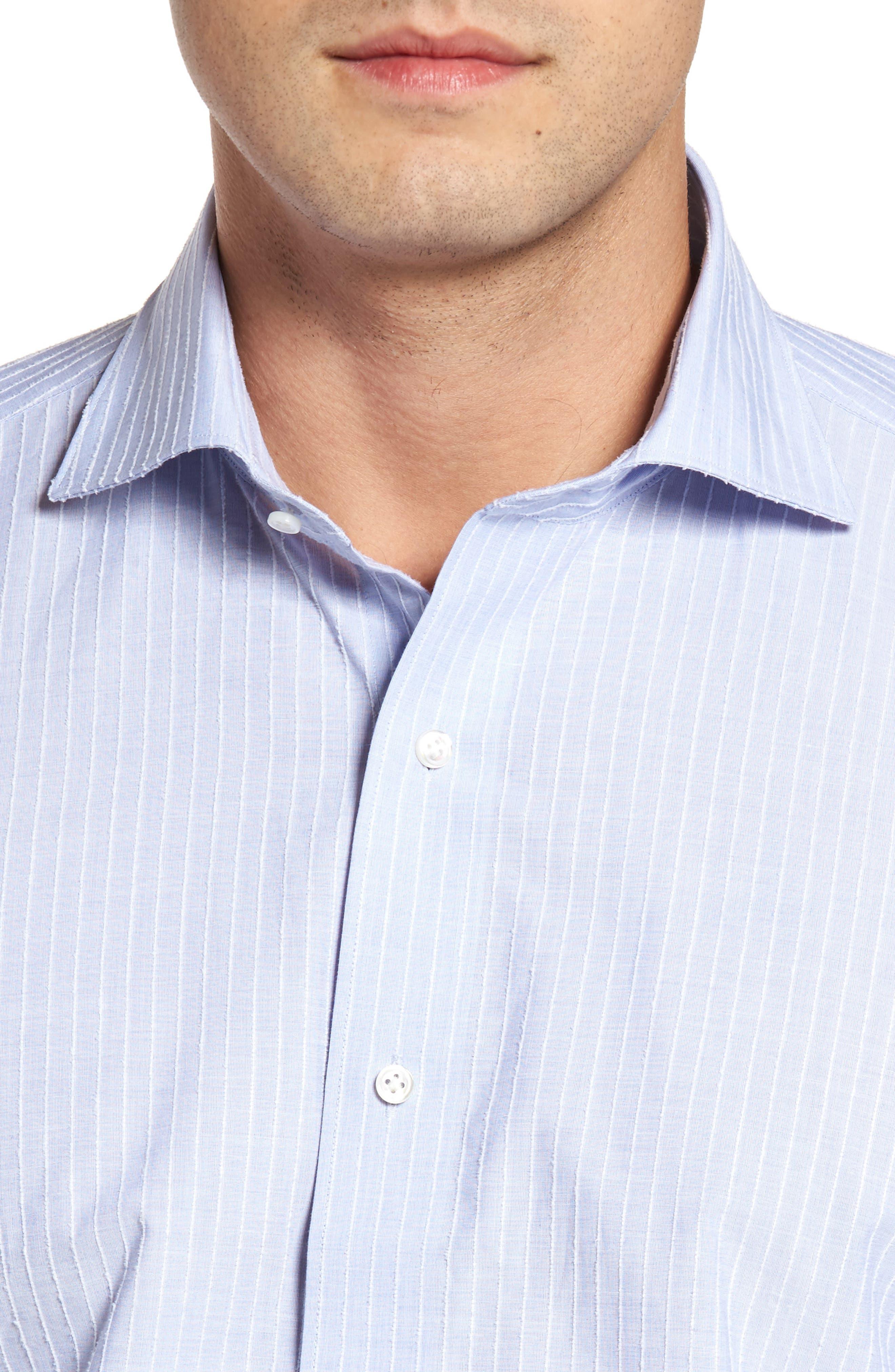 Cejar Stripe Sport Shirt,                             Alternate thumbnail 4, color,                             433