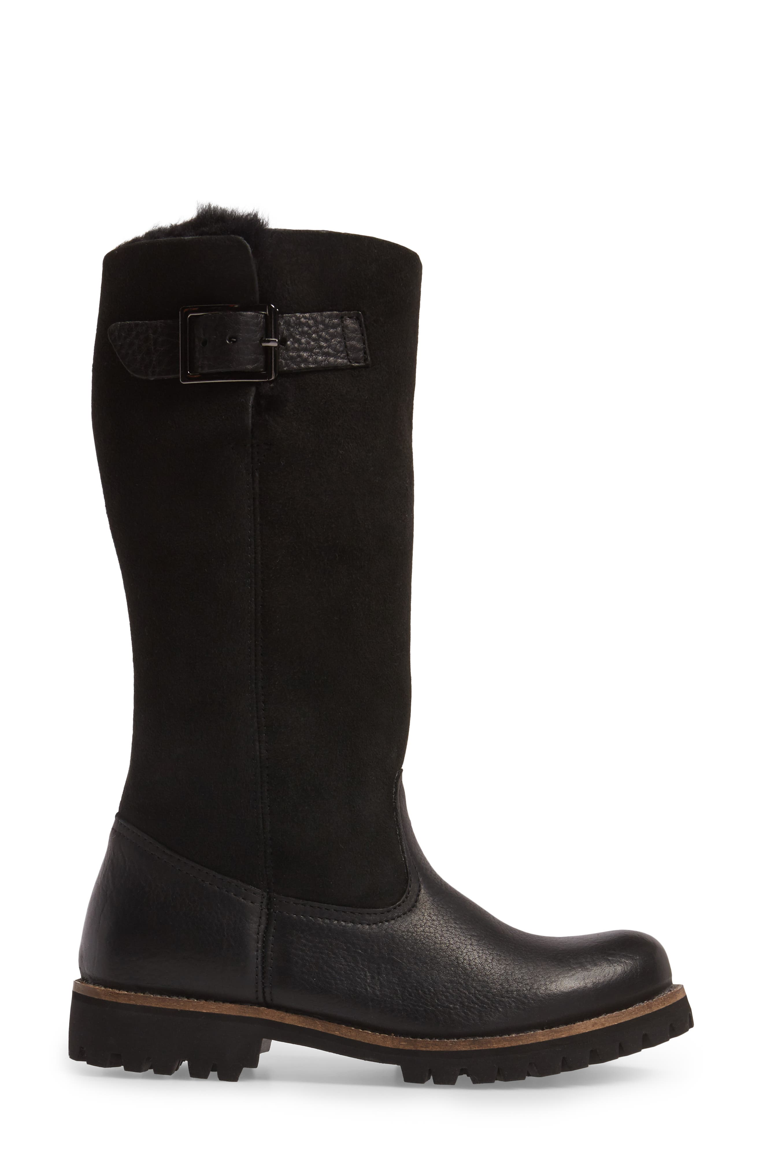 OL04 Tall Boot,                             Alternate thumbnail 3, color,                             BLACK SUEDE