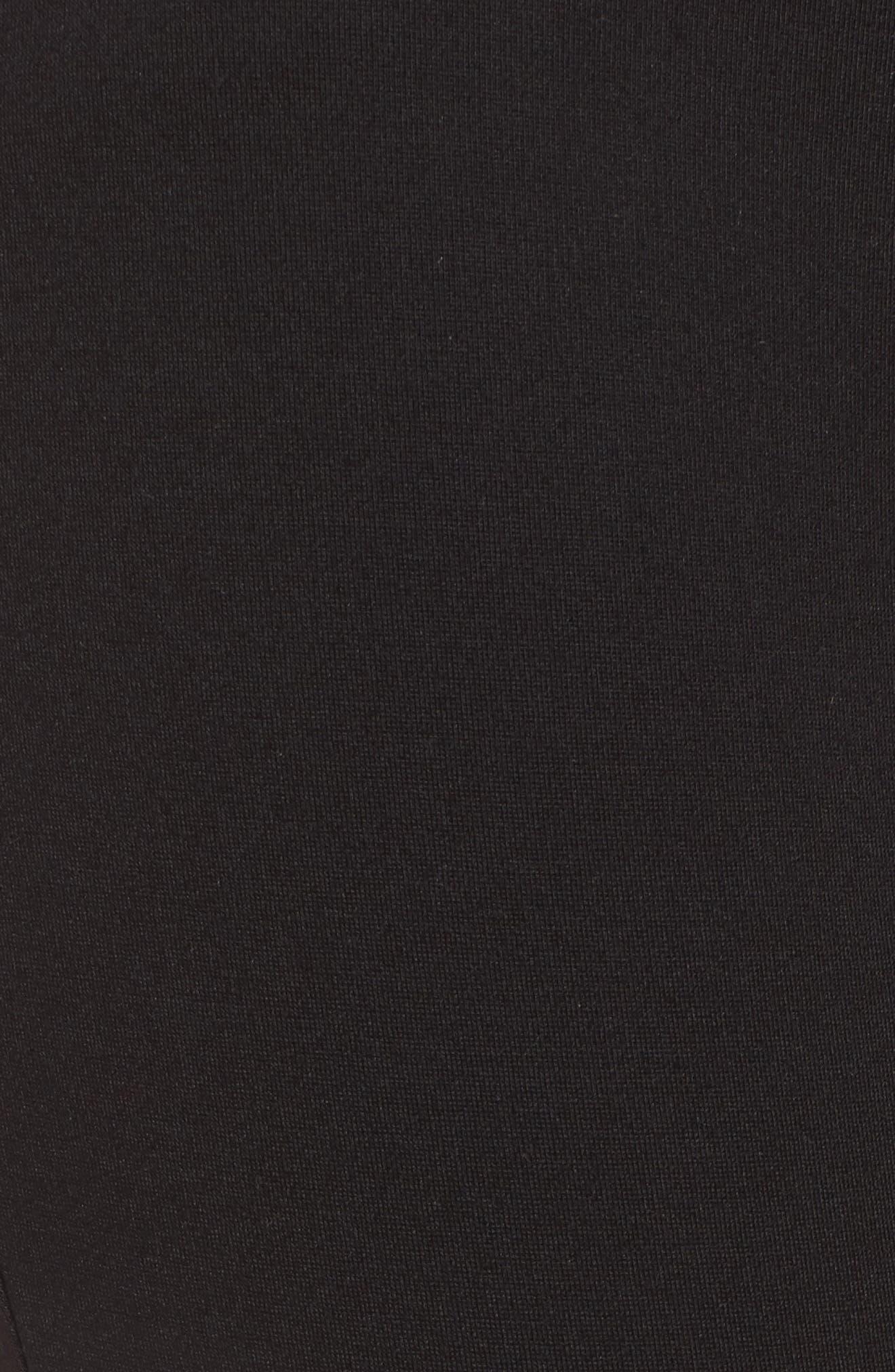 High Waist Ponte Pants,                             Alternate thumbnail 5, color,                             BLACK