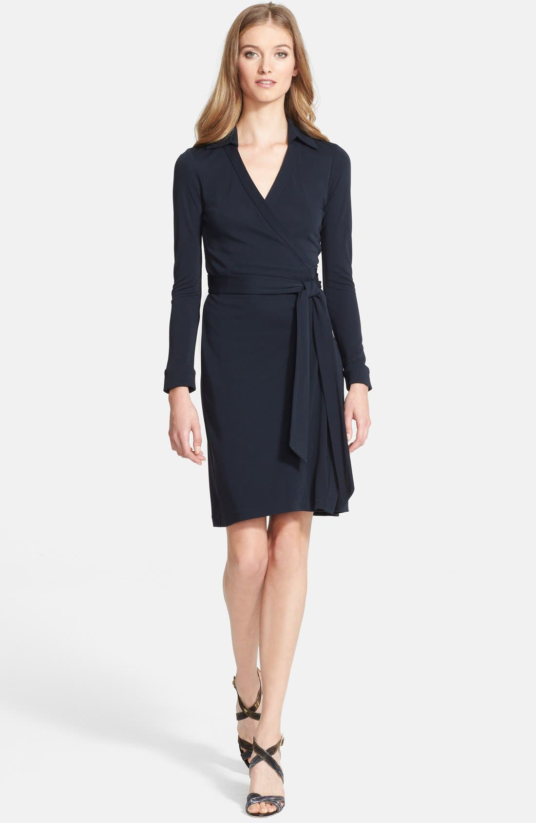 'New Jeanne Two' Jersey Wrap Dress, Main, color, 404